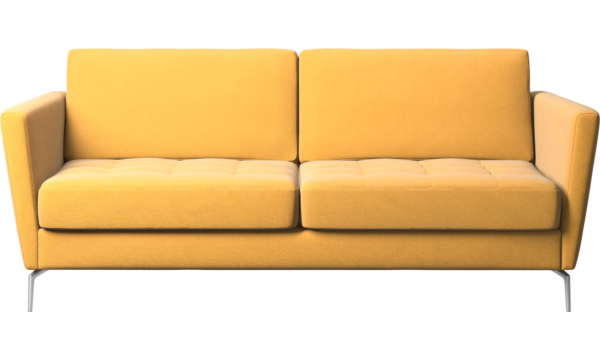Sofás cama - Sofá cama Osaka, asiento capitoné - En amarillo - Tela
