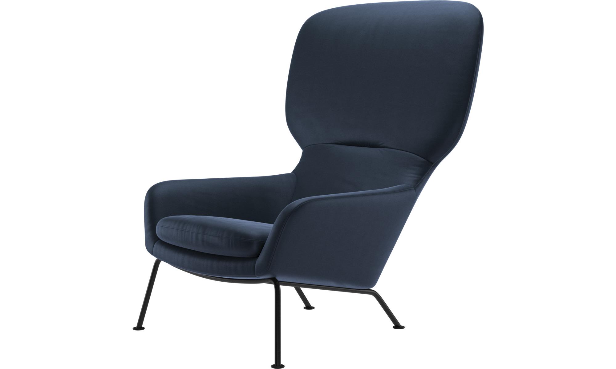 Armchairs - Dublin chair - Blue - Leather