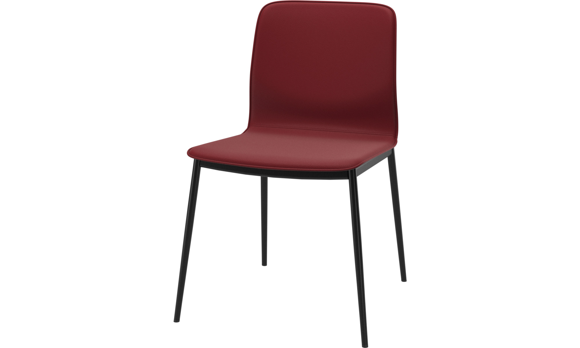 Dining chairs - Newport dining chair - Red - Leather