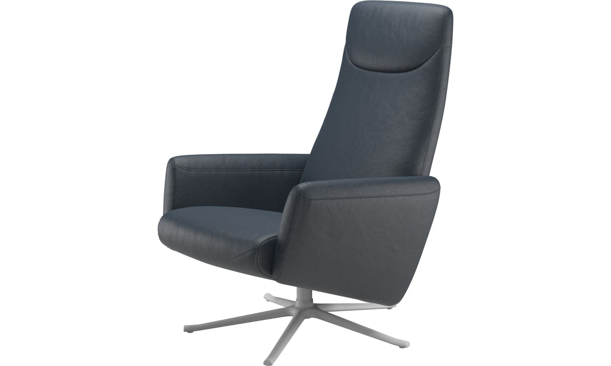 Recliners - Lucca recliner with swivel function - Blue - Fabric