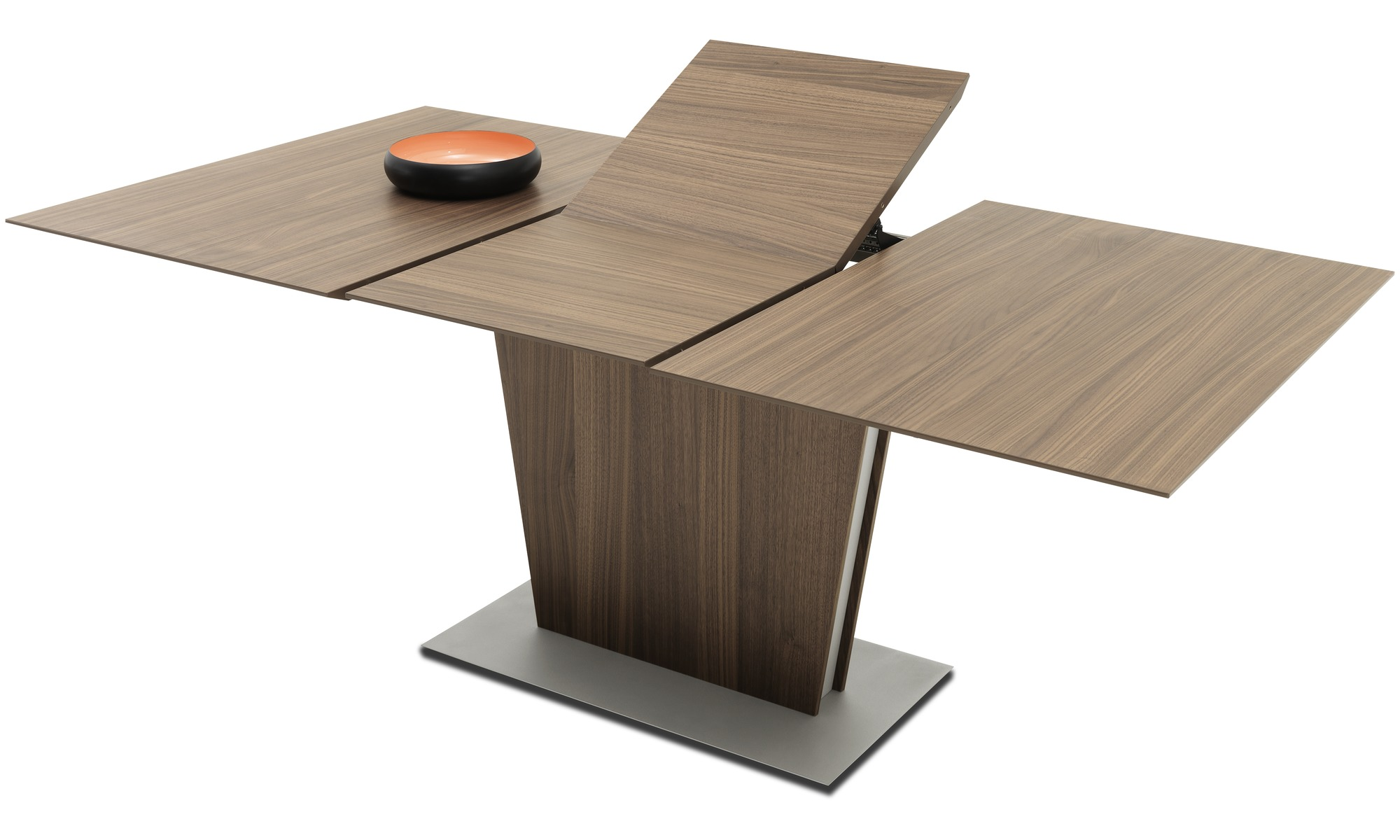 Dining tables milano table with supplementary tabletop for Designer extending dining tables