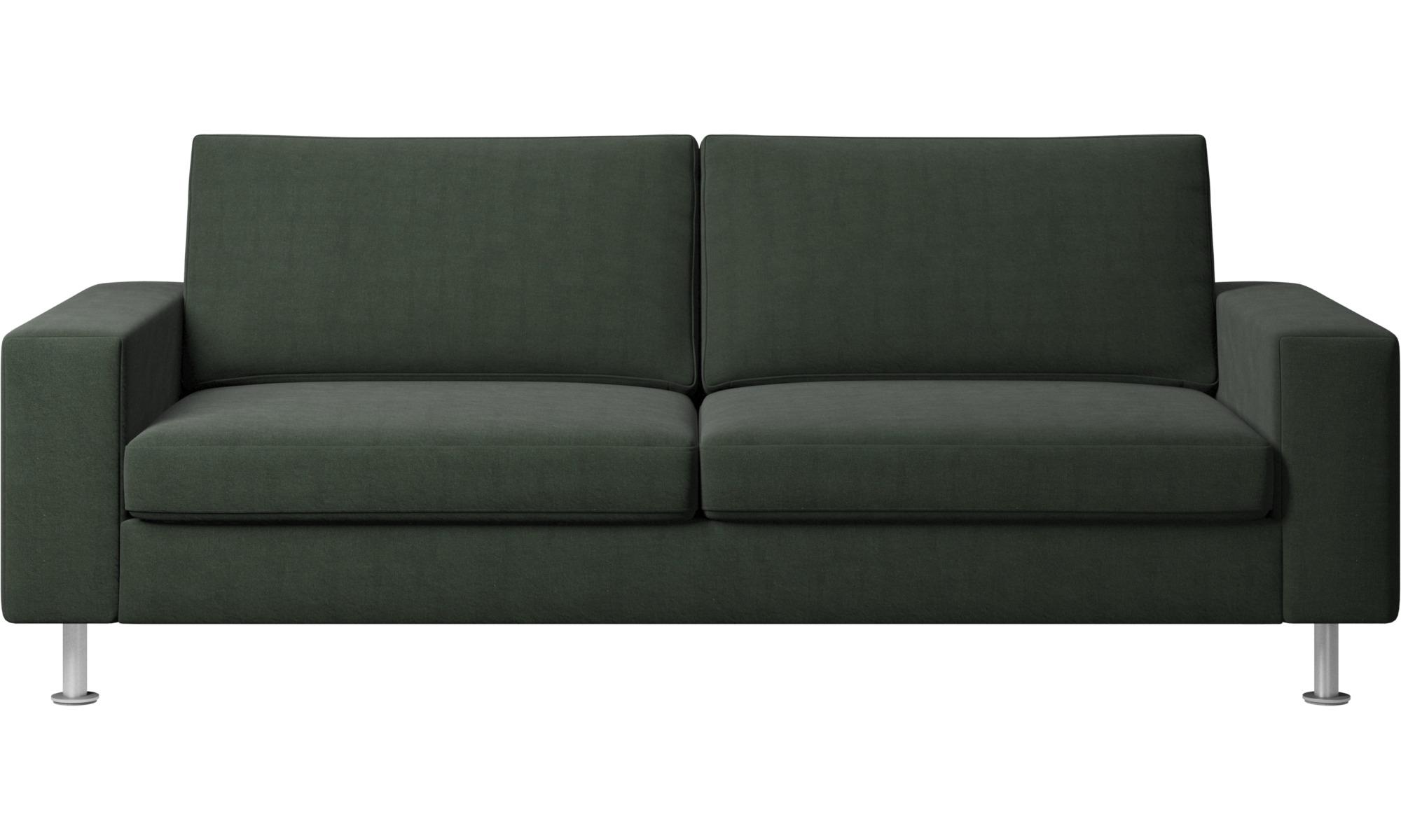 Sofy rozkładane - Sofa Indivi z funkcją spania - Zielony - Tkanina