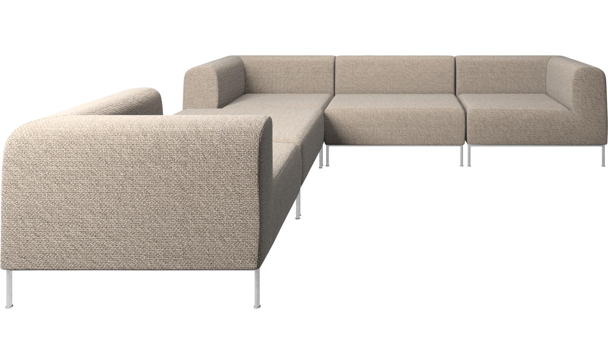 canap s modulaires canap d 39 angle miami avec pouf sur la gauche boconcept. Black Bedroom Furniture Sets. Home Design Ideas