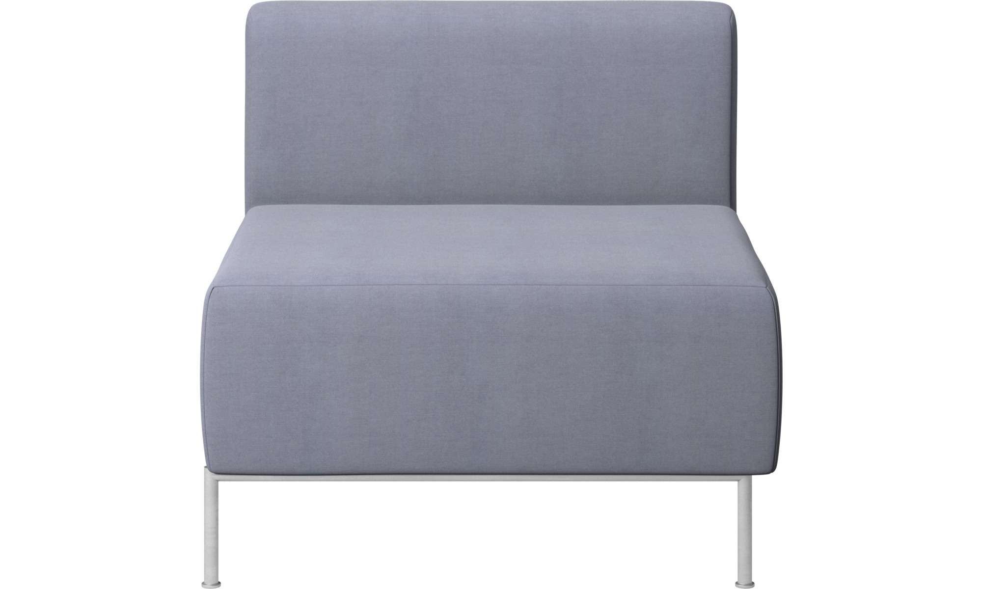 Armchairs - Miami seat with back - Blue - Fabric