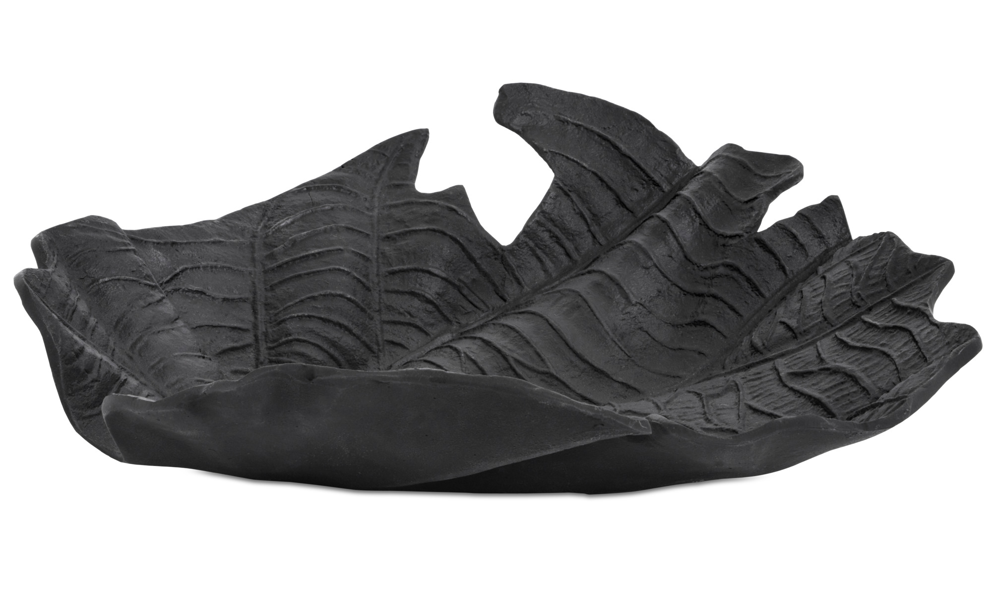 Dekoracja - Rzeźba Velvet leaf - Czarny - Aluminium