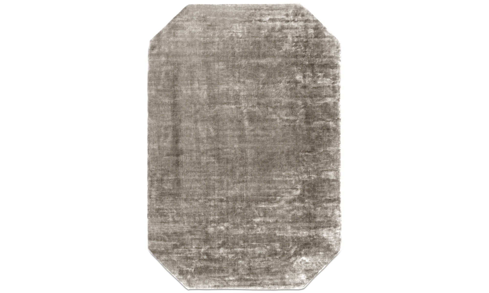 Alfombras redondas - Alfombra Shanghai - rectangular - En marrón - Tela