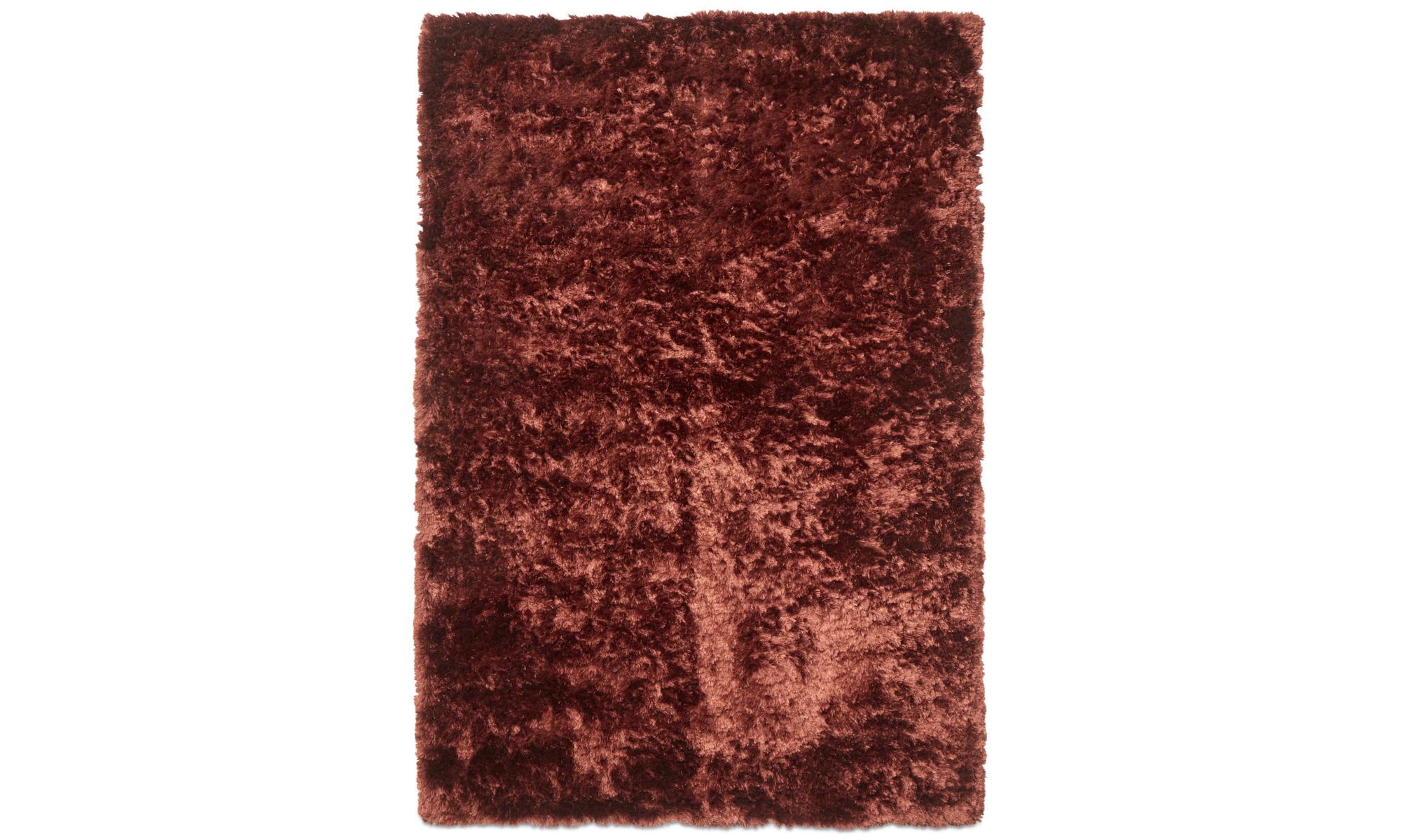 Round rugs - Beijing rug - rectangular - Red - Fabric