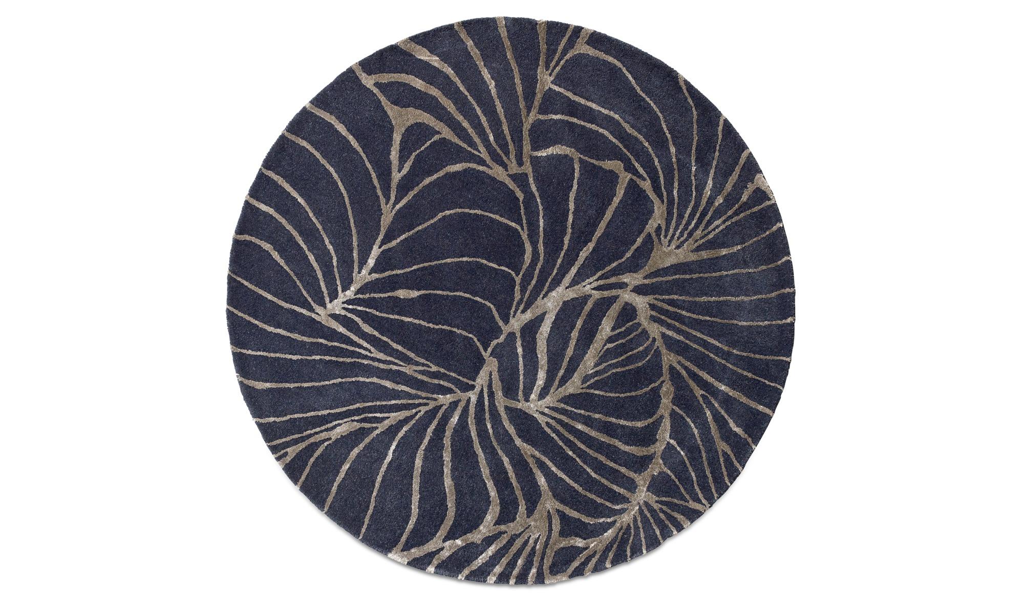 Runde Teppiche - Ankara Teppich - rund - Blau - Stoff