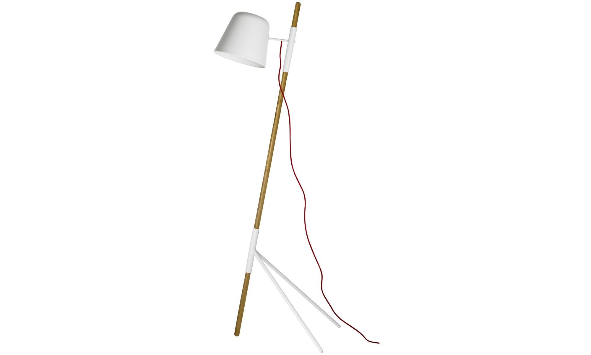 Lampy - Lampa podłogowa Outrigger - Brązowy - Dąb