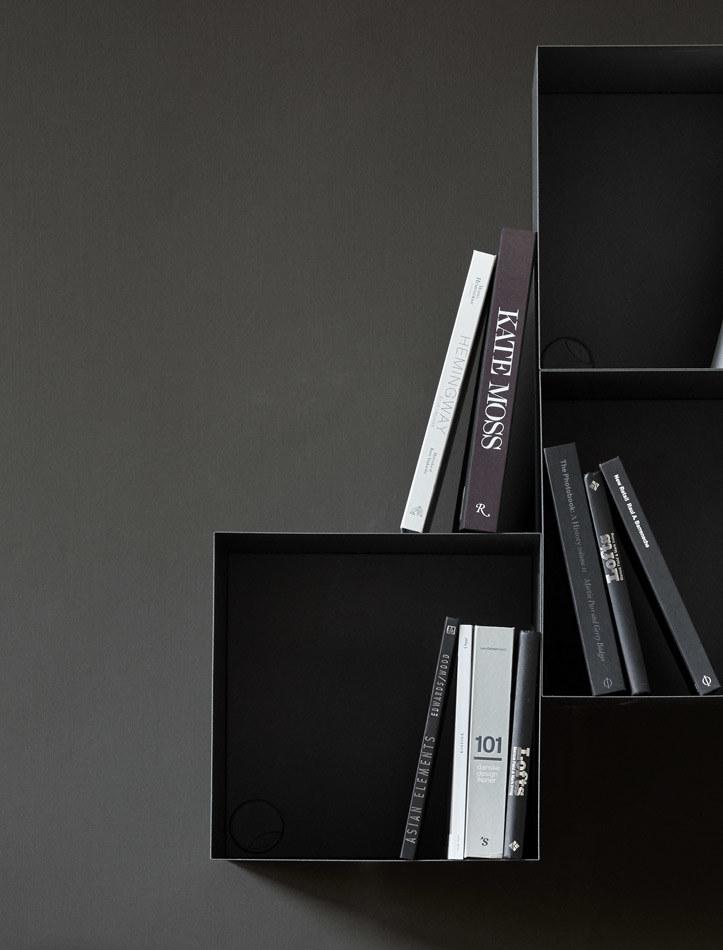 Estantes y libreros negros - librero Como