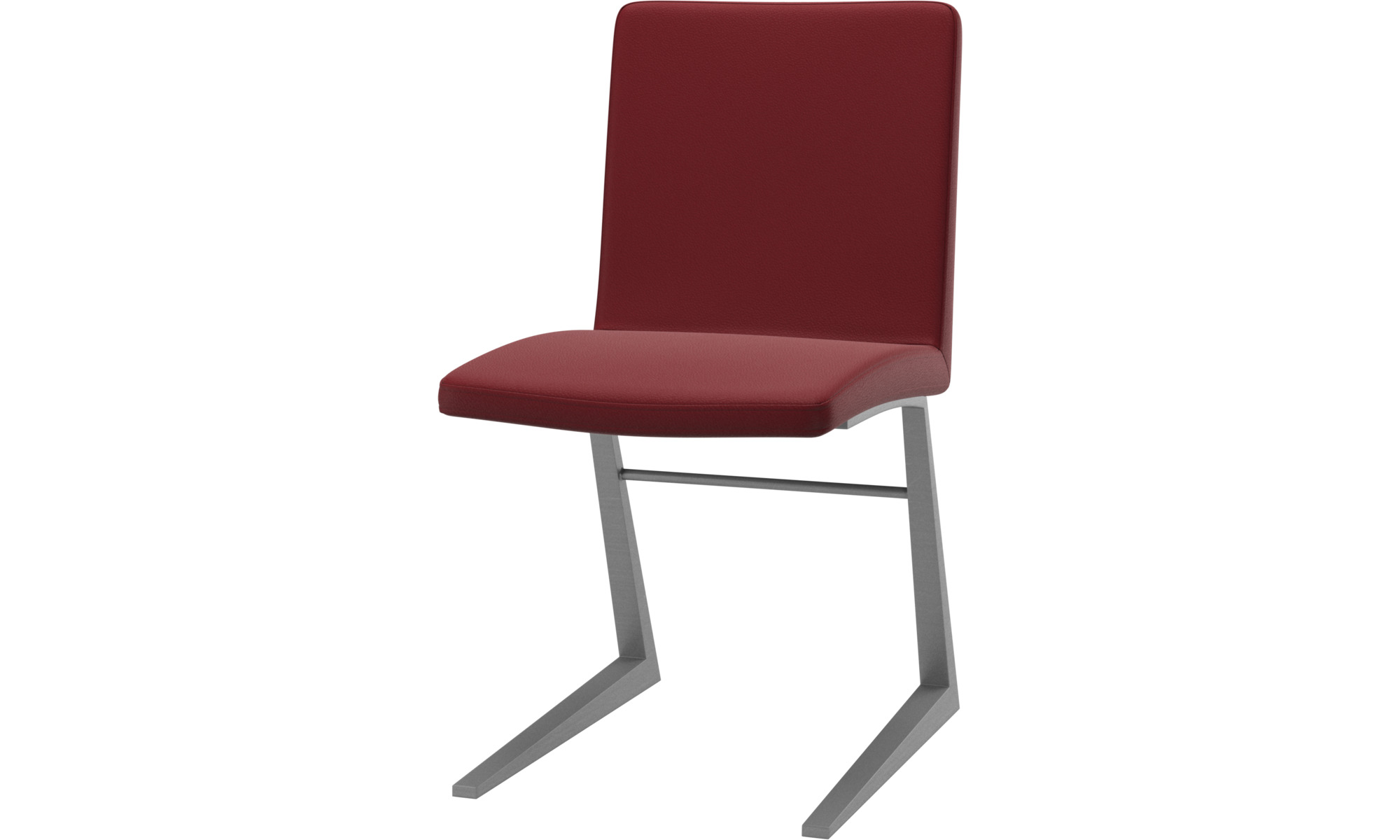 Dining chairs - Mariposa Deluxe chair - Red - Leather