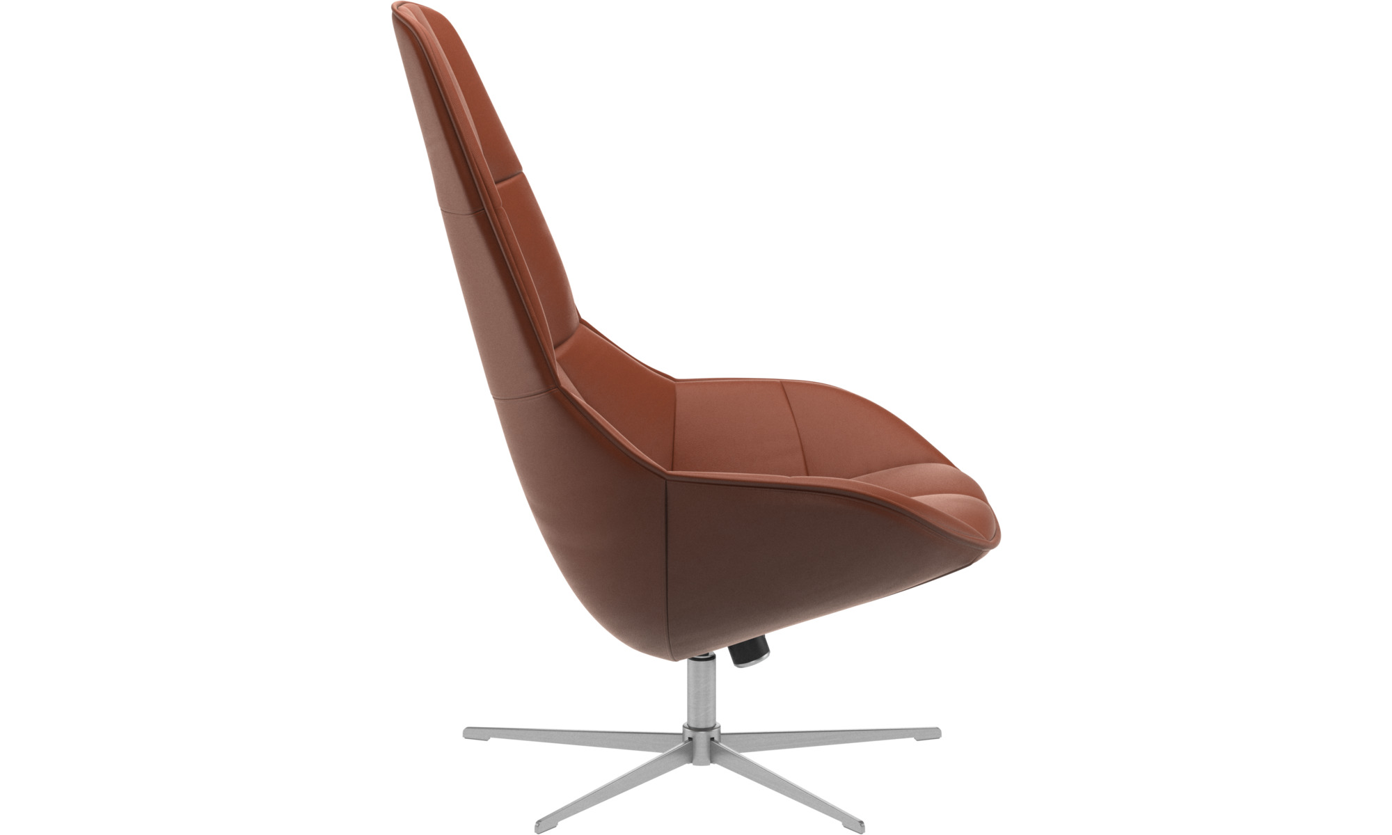 ... Armchairs   Boston Chair With Swivel And Tilt Function   Brown    Leather ...
