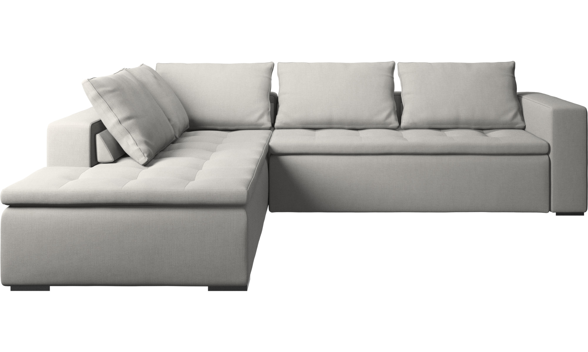 Sofas with open end mezzo corner sofa with lounging unit boconcept Loveseats with console