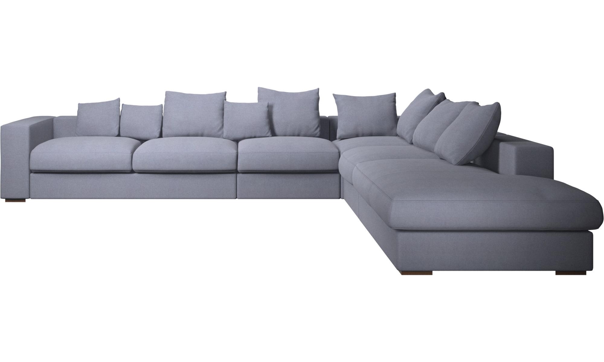 Hjørnesofaer - Cenova hjørnesofa med loungemodul - Blå - Stof