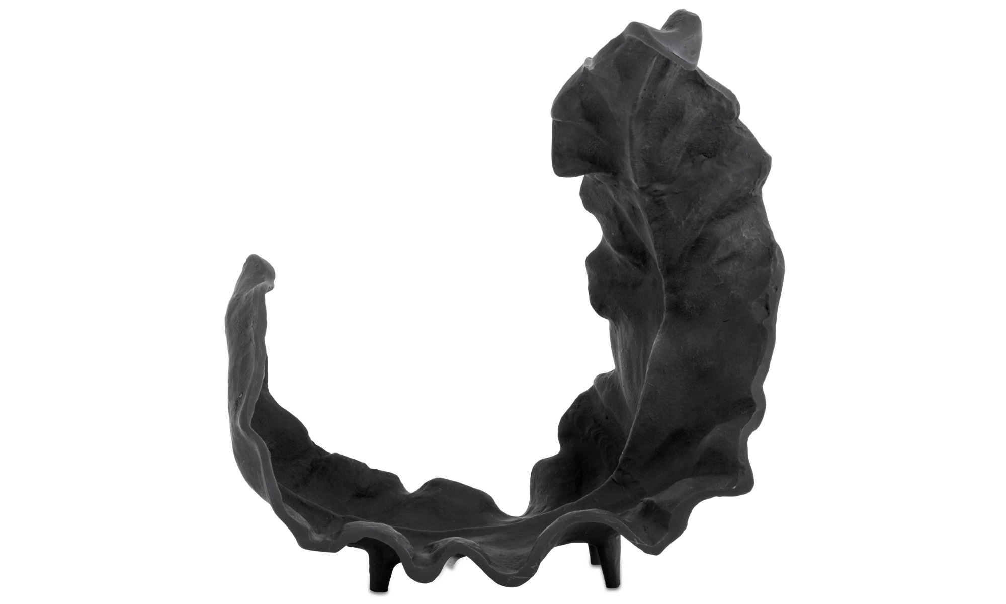 Dekoracja - Rzeźba Mango leaf - Czarny - Aluminium