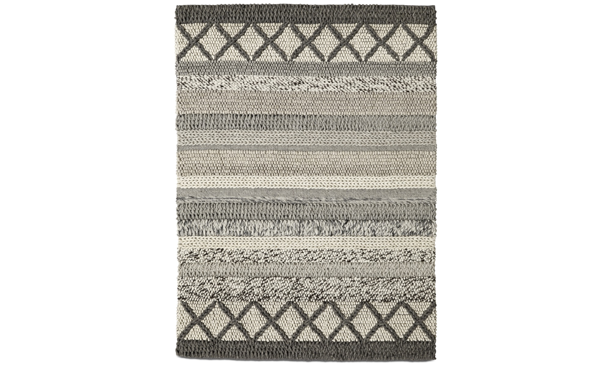 Teppiche - Palencia Teppich - rechteckig - Grau - Stoff