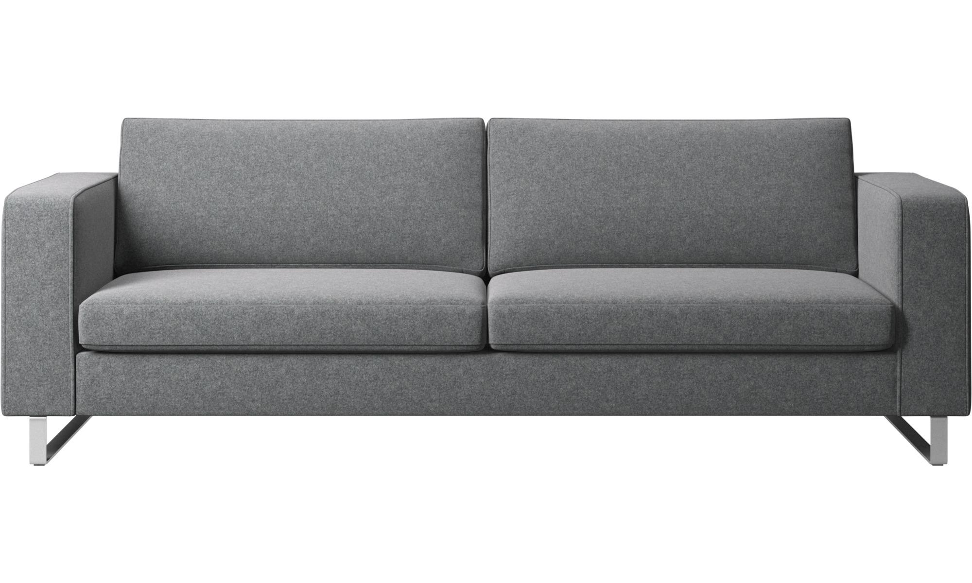 Sofy 3-osobowe - Sofa Indivi - Szary - Tkanina