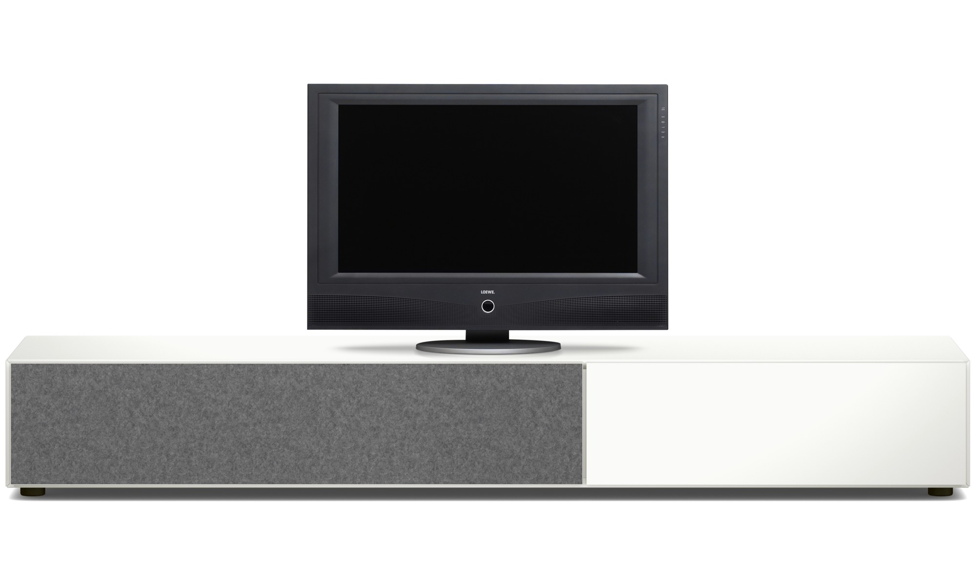 Tv units lugano base cabinet with drawer and drop down for Meuble boconcept