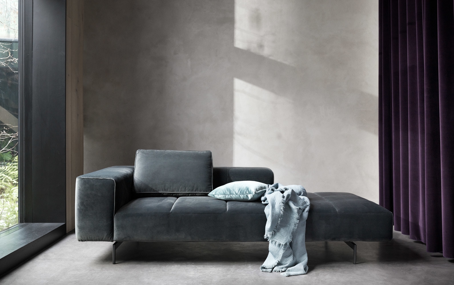 Modular sofas - Amsterdam Iounging module for sofa, armrest left, open end right