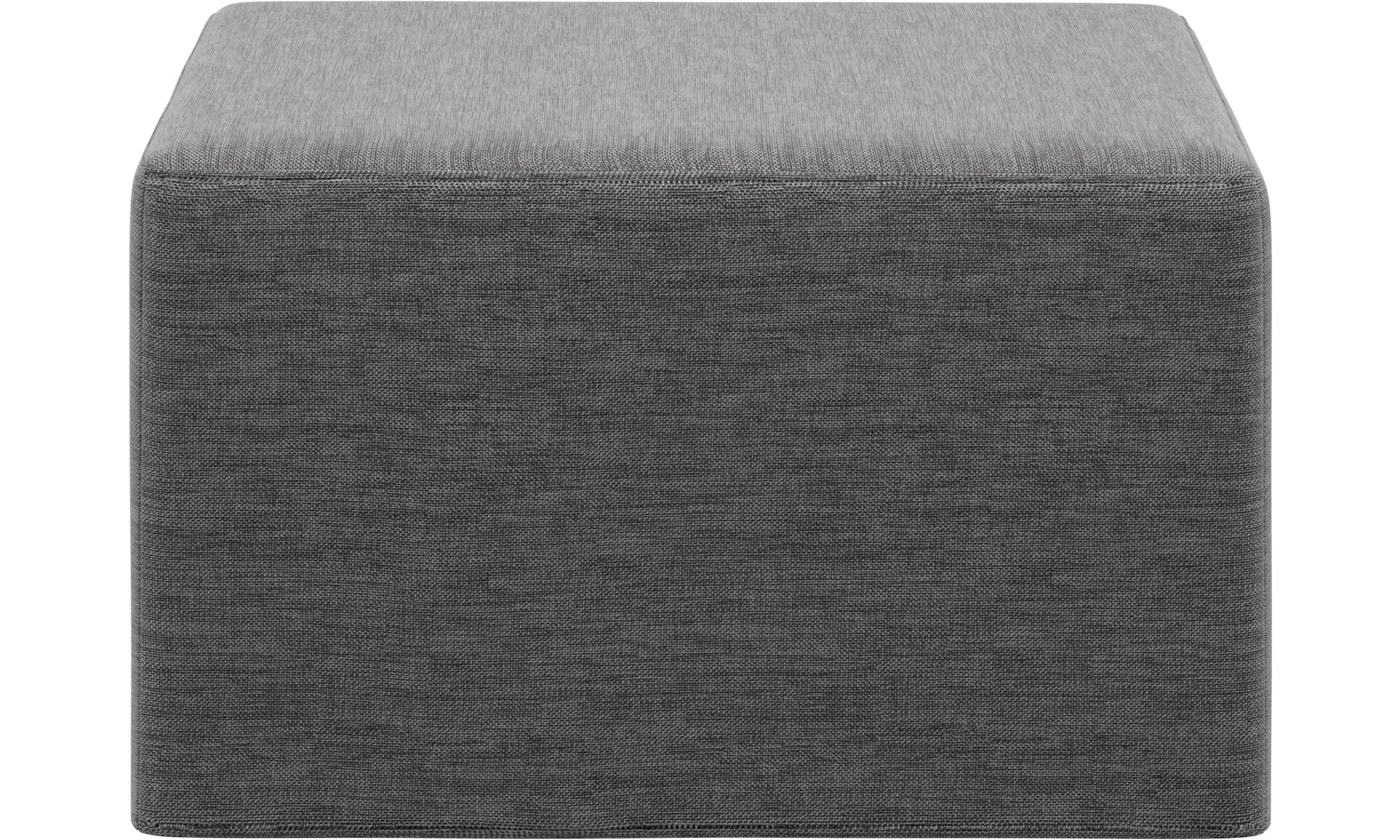 Schlafsofas - Xtra Hocker mit Schlaffunktion - Grau - Stoff
