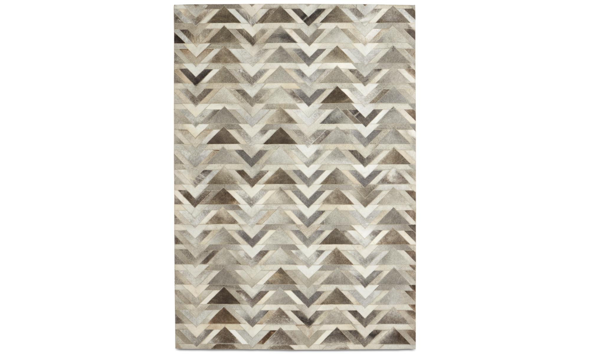 Teppiche - Arrow Teppich - rechteckig - Grau - Leder
