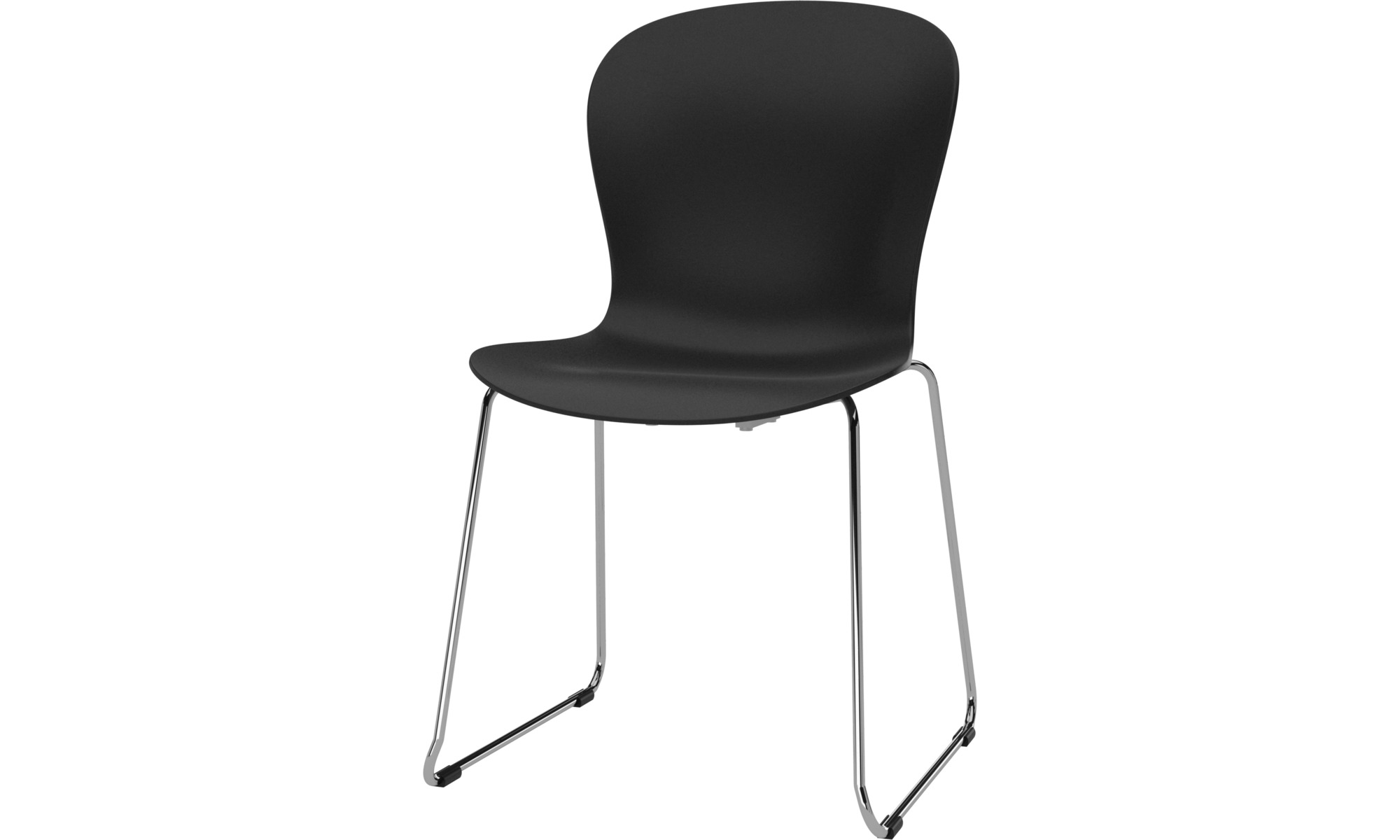 Dining chairs - Adelaide chair - Black - Plastic