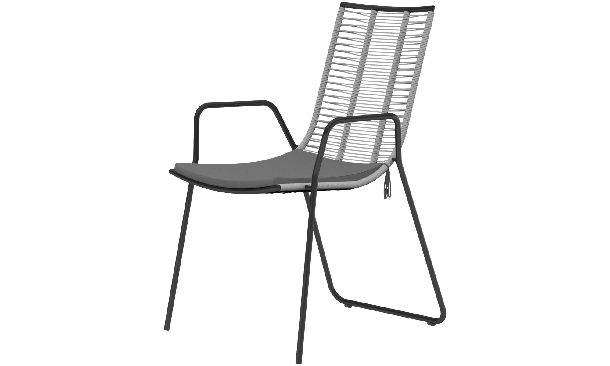Outdoor chairs - Elba chair (for in and outdoor use) - Grey
