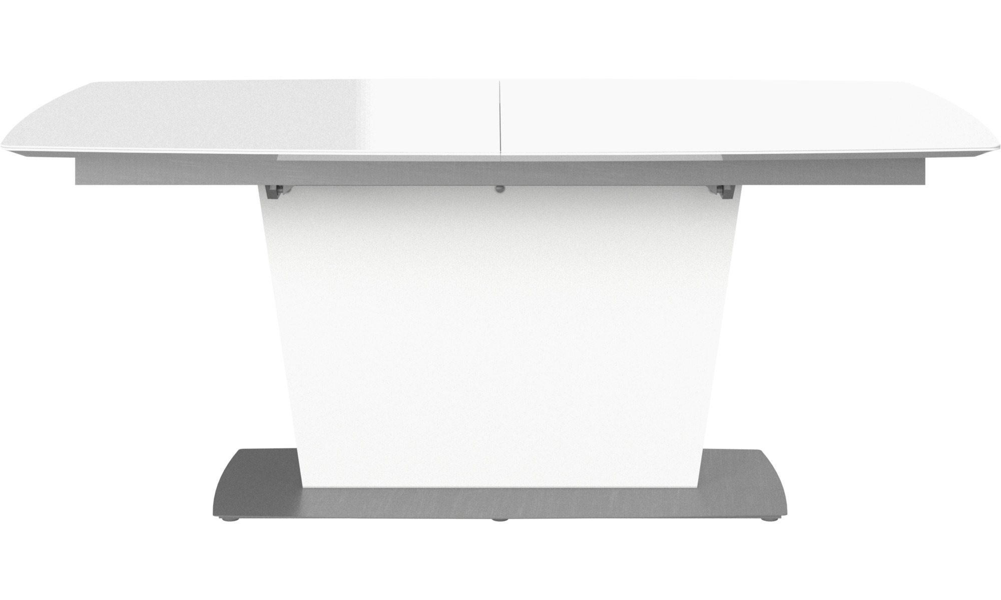 Dining tables - Milano table with supplementary tabletop - rectangular - White - Glass