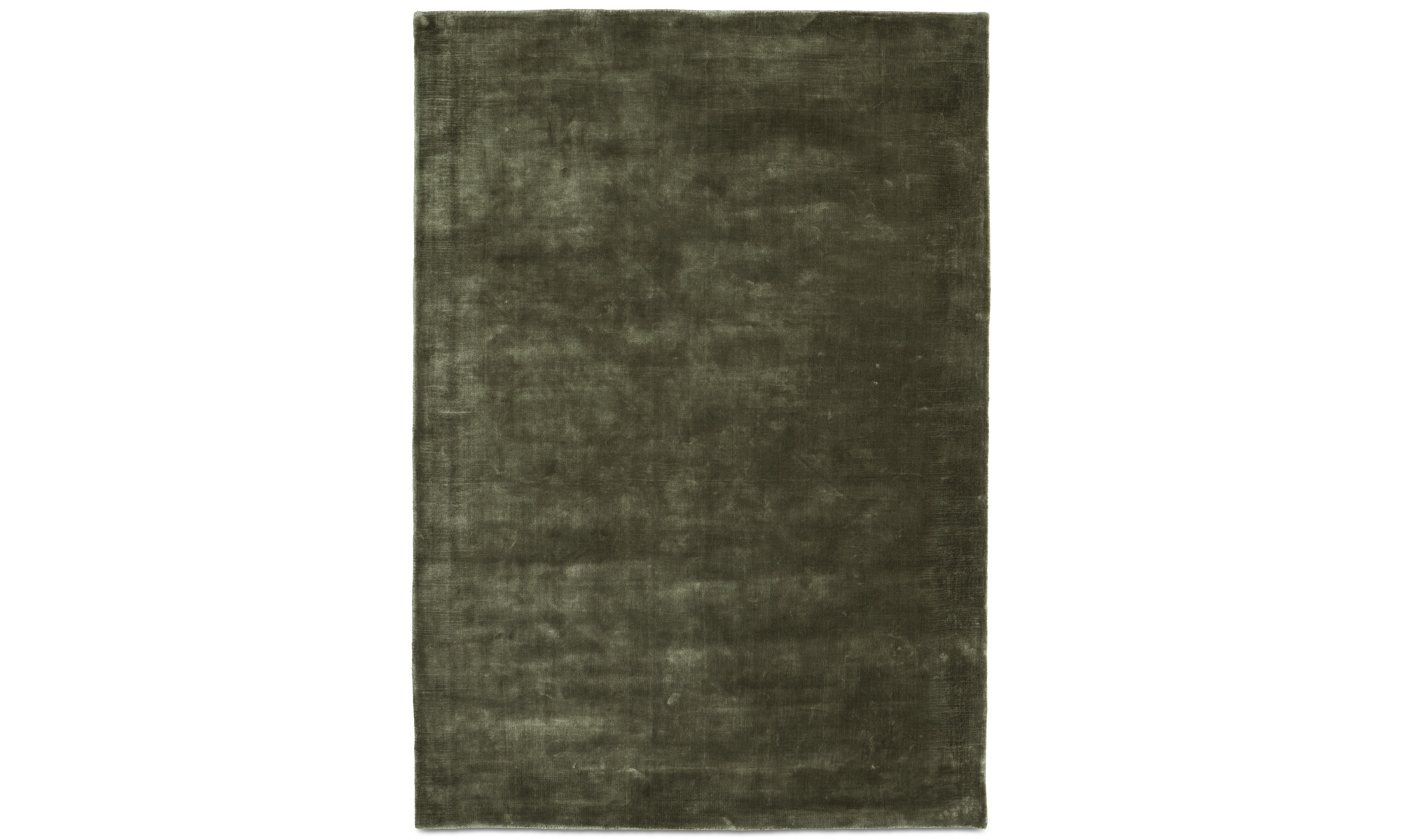 Alfombras redondas - Alfombra Loom - rectangular - En verde - Tencel