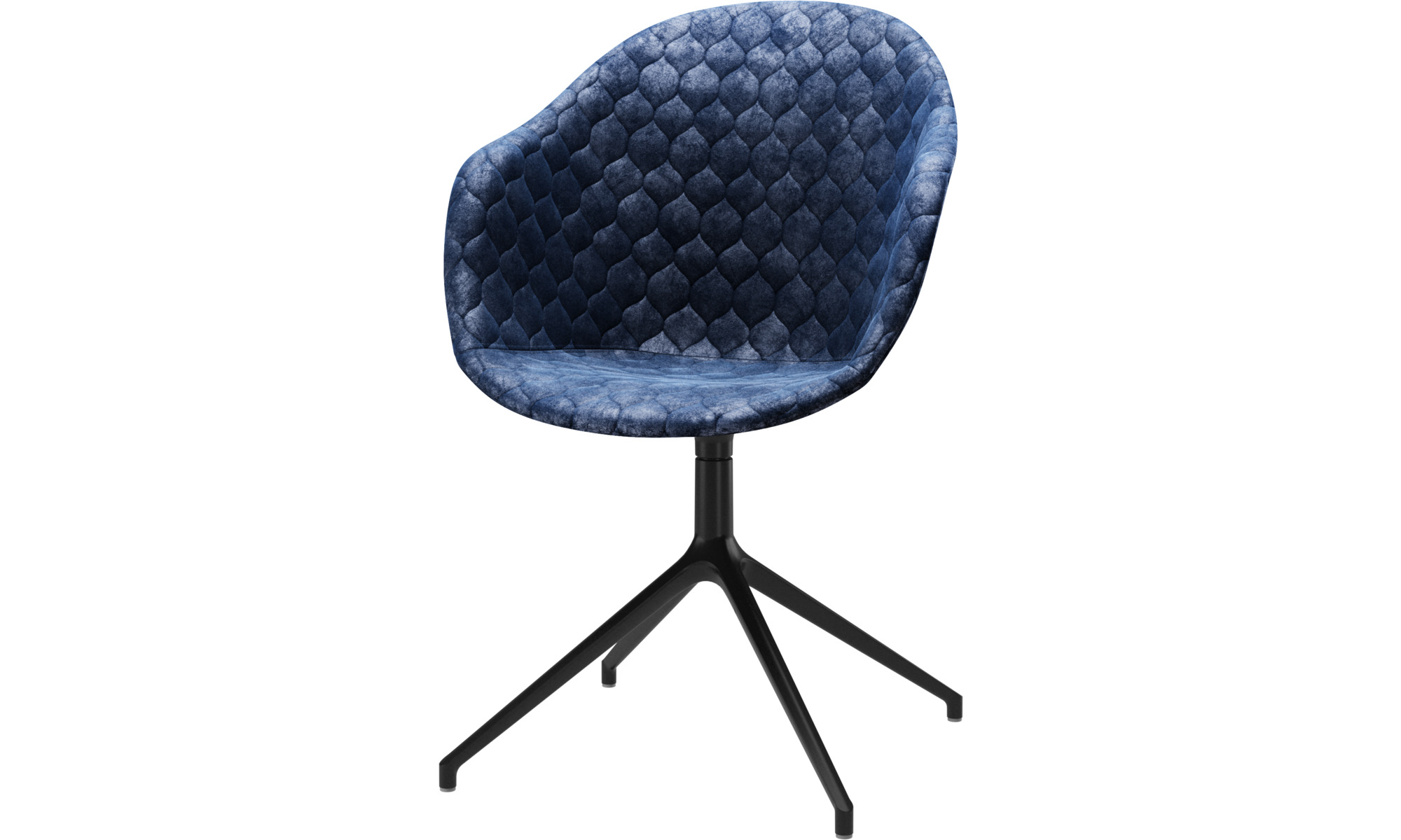 Home office chairs - Adelaide chair with swivel function - Blue - Fabric