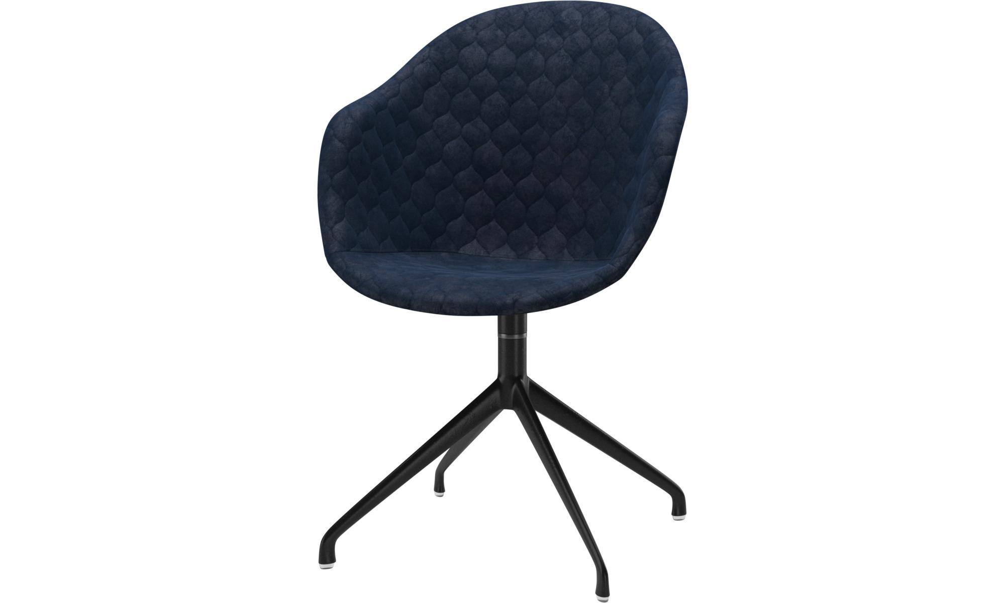 Krzesła do jadalni - Krzesło Adelaide na obrotowej nodze - Niebieski - Tkanina
