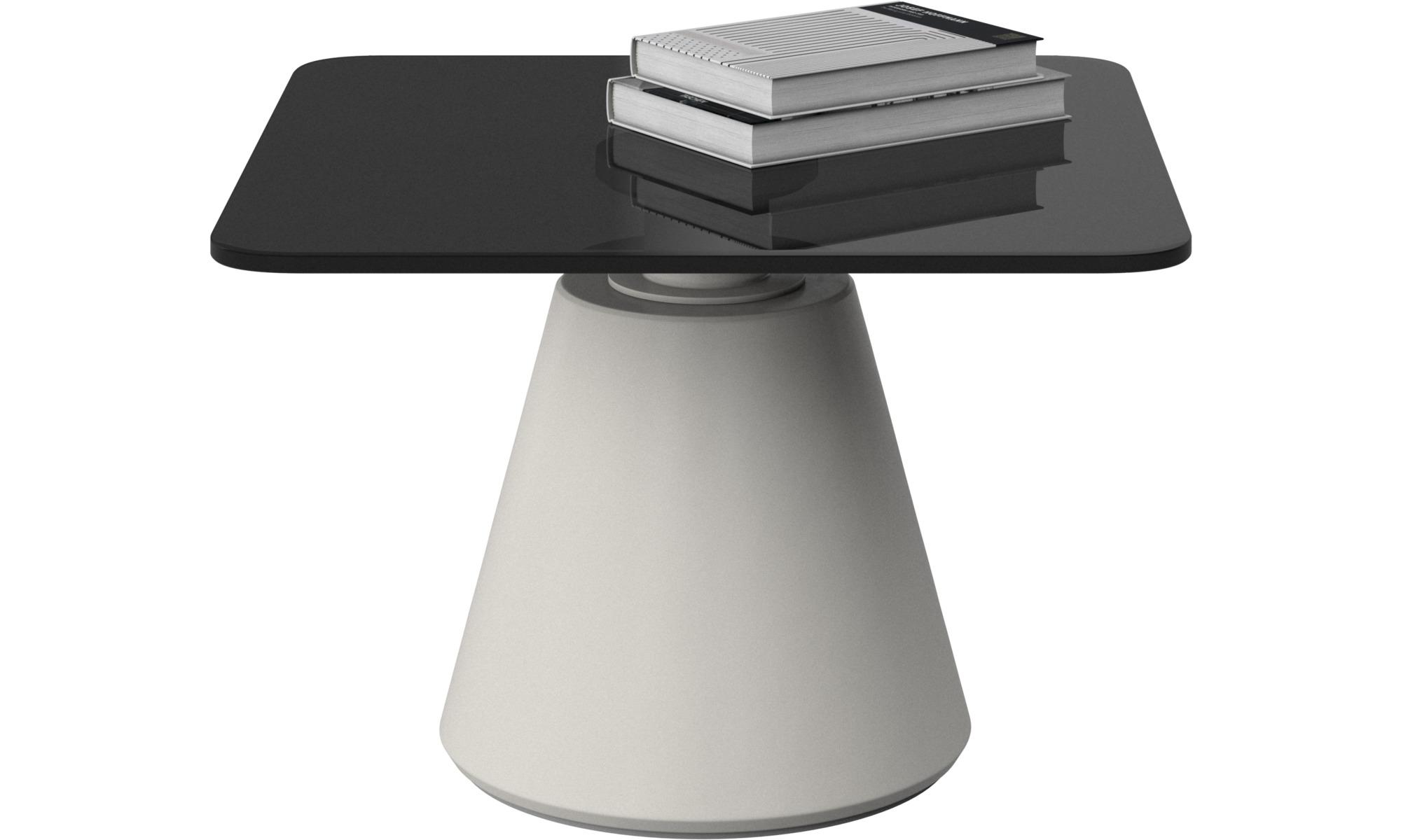 Tables basses - Table basse Madrid - carré - Gris - Verre