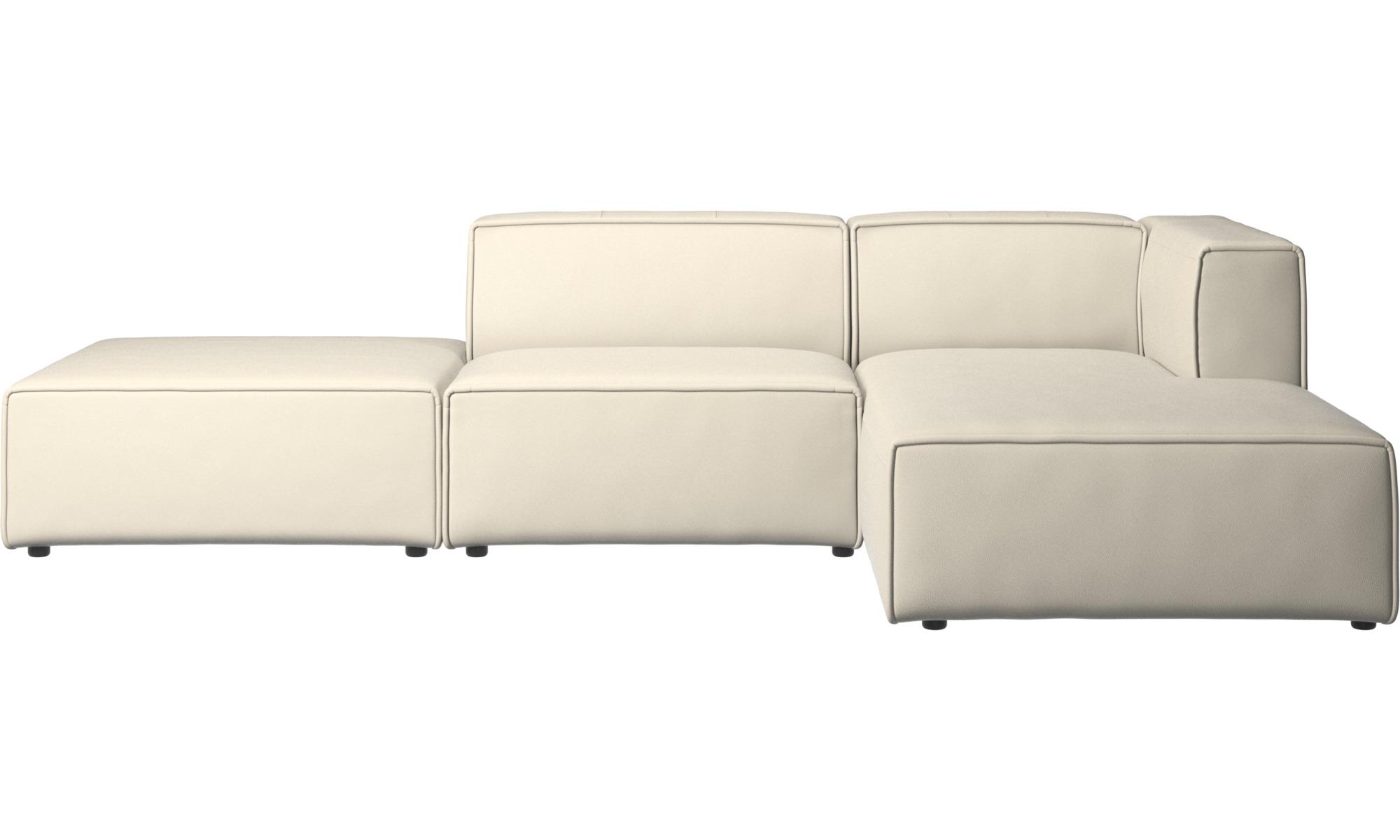 Modular sofas - Carmo sofa with resting unit - White - Leather