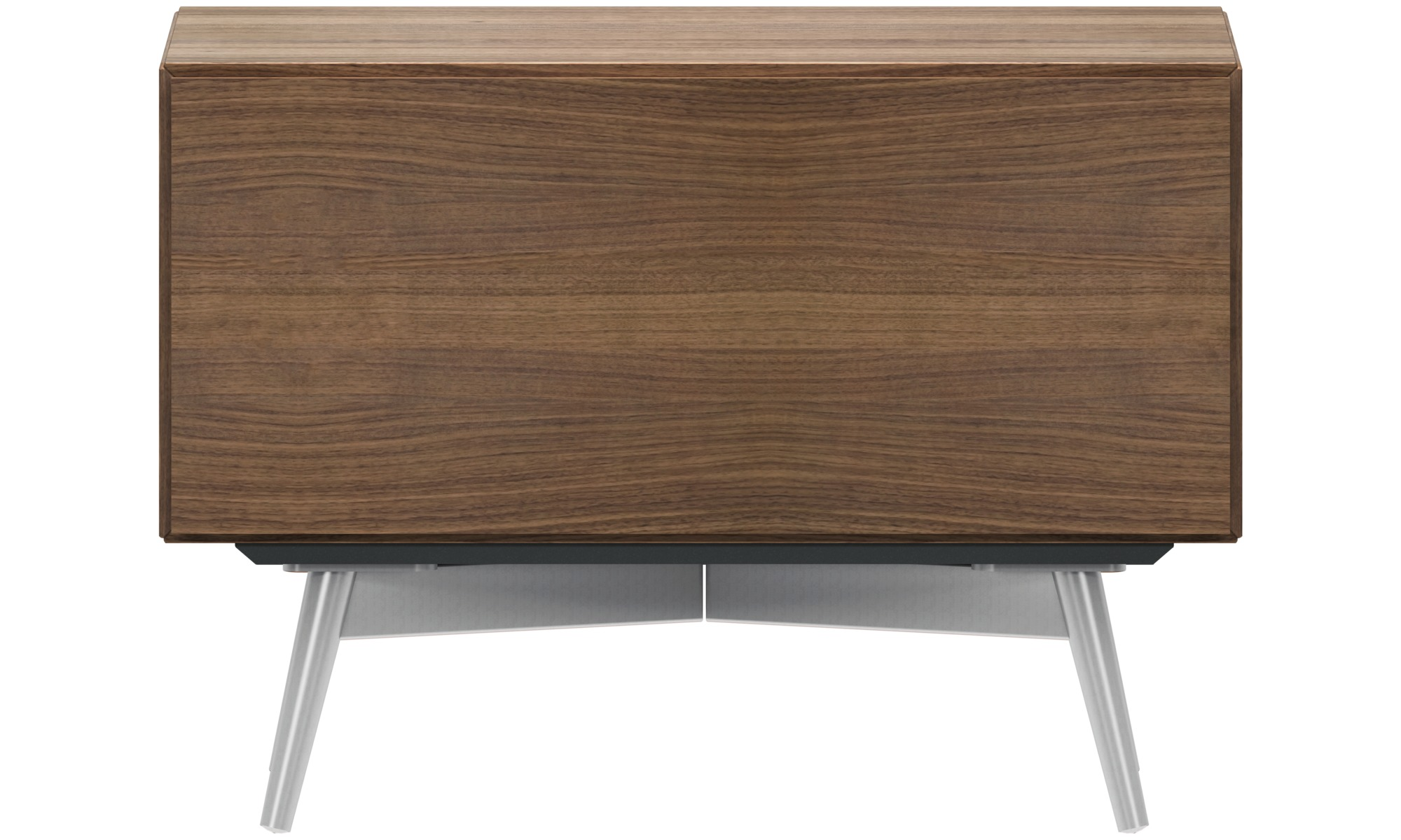 Bedside tables lugano night stand rectangular brown walnut