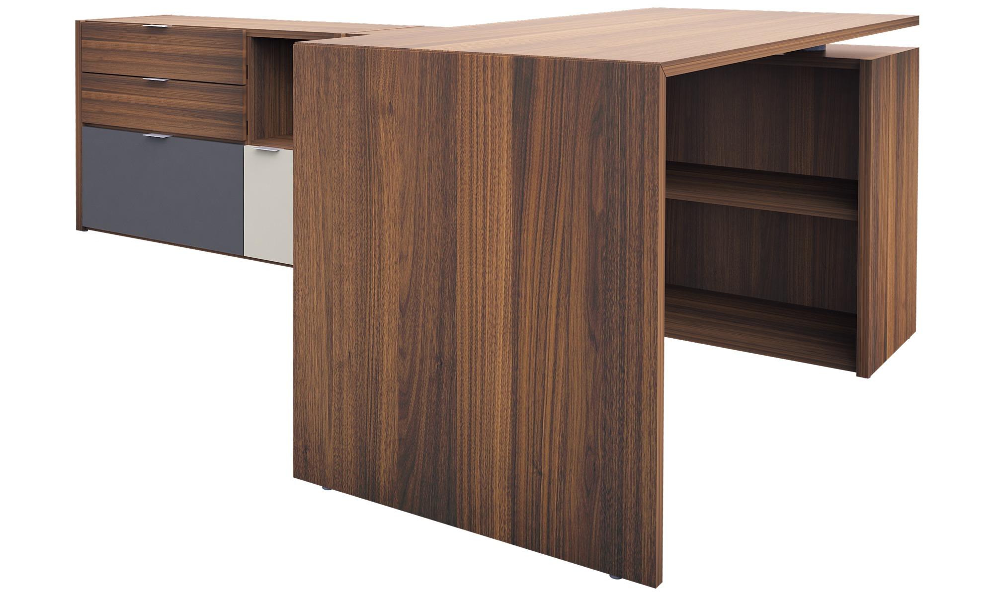 Desks Copenhagen Office System Brown Walnut