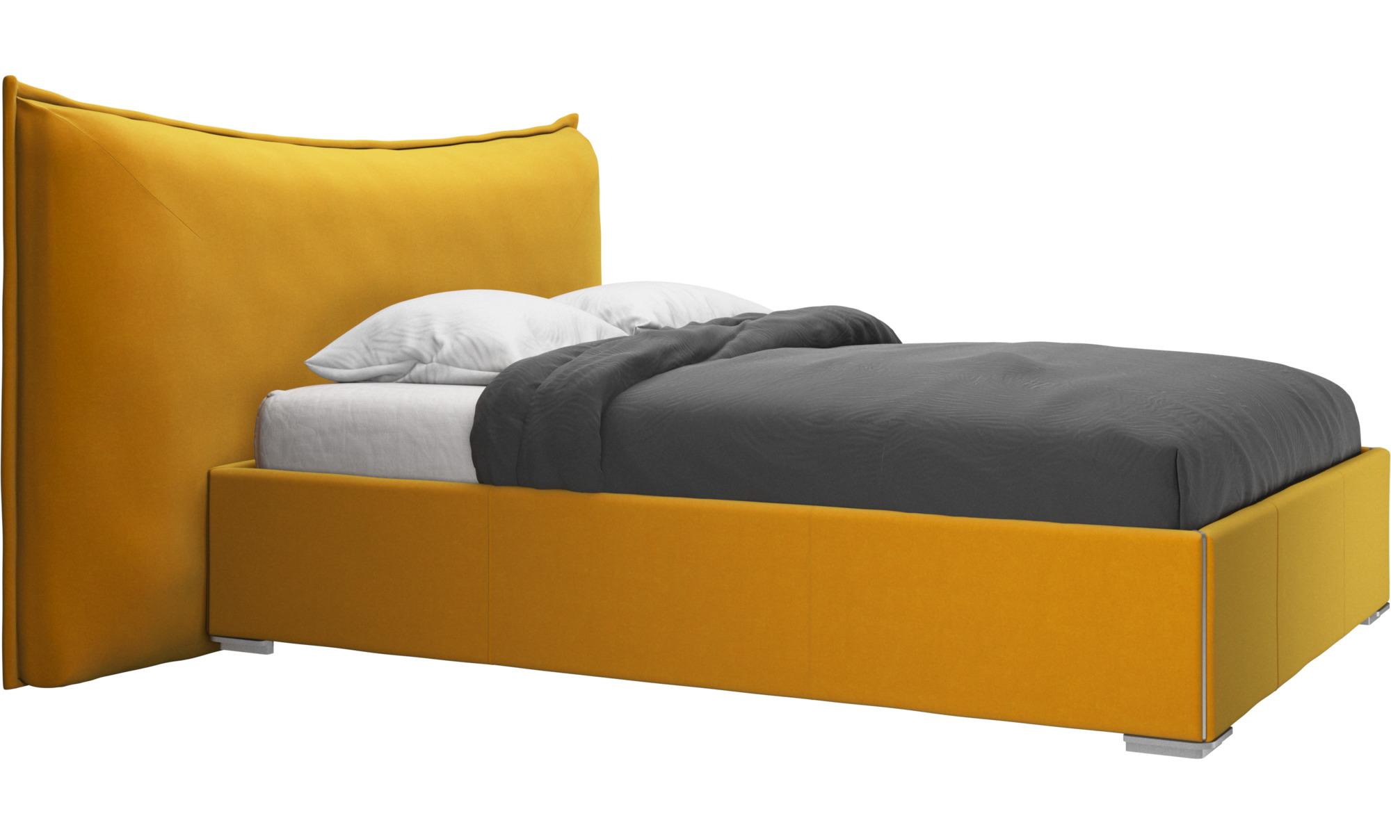 Camas - cama con canapé, estructura elevable y tablado, no incluye colchón Gent - Naranja - Tela
