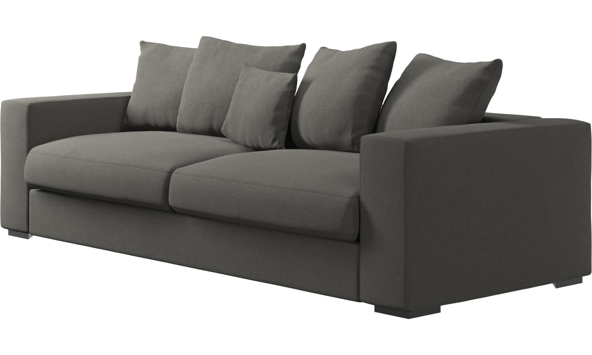 ... 3 Seater Sofas   Cenova Sofa   Gray   Fabric ...