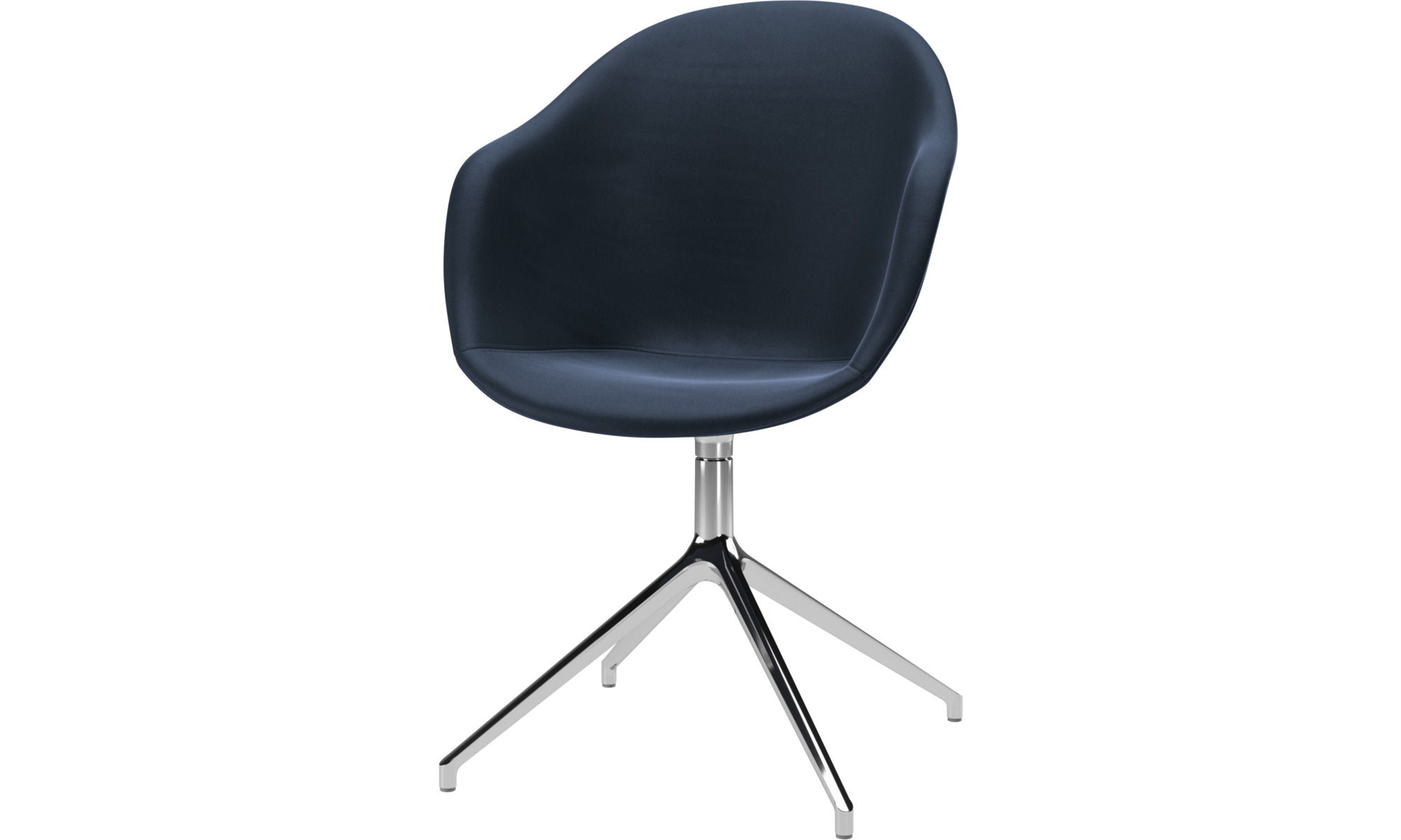 Home office chairs - Adelaide chair with swivel function - Blue - Leather