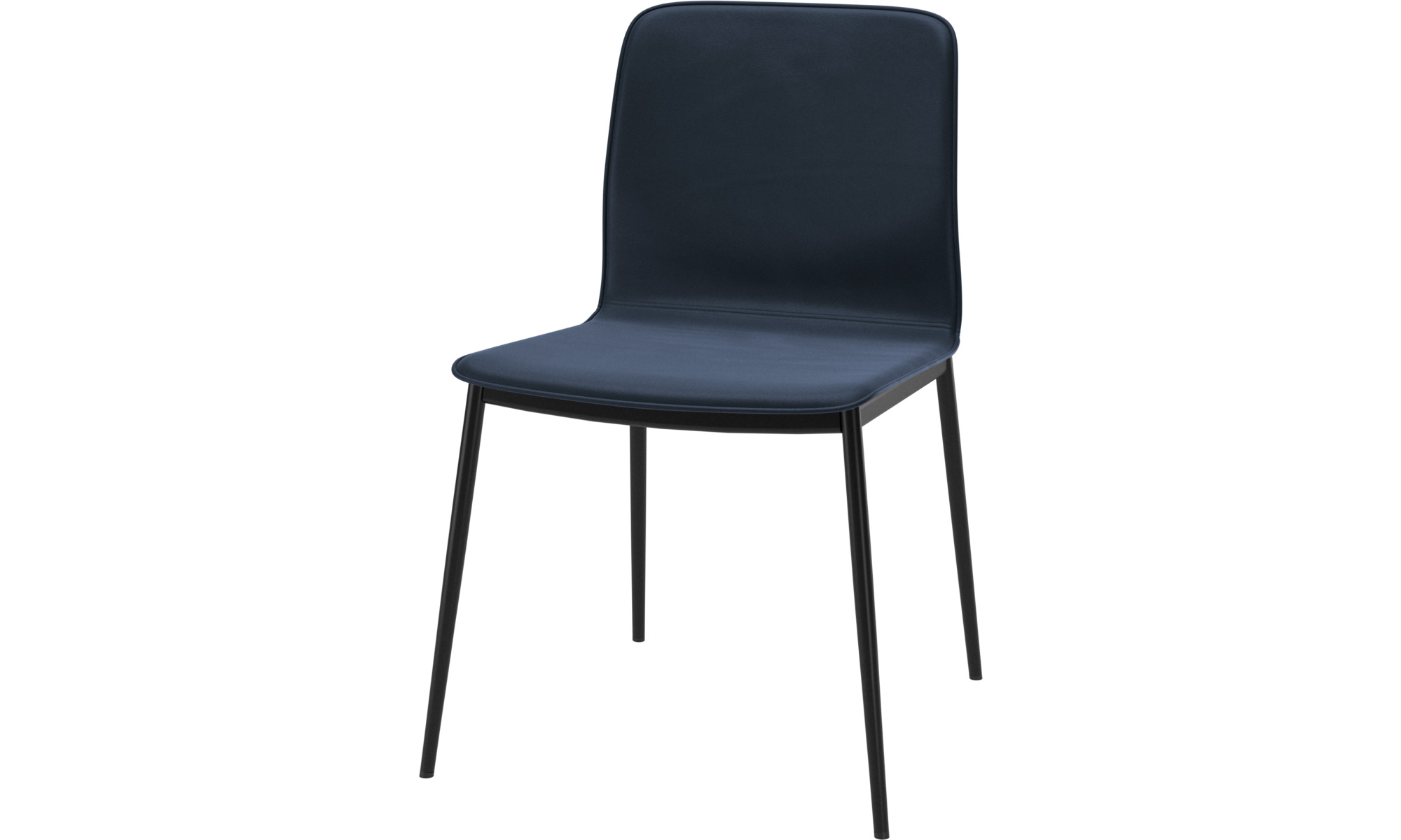 Dining chairs - Newport dining chair - Blue - Leather