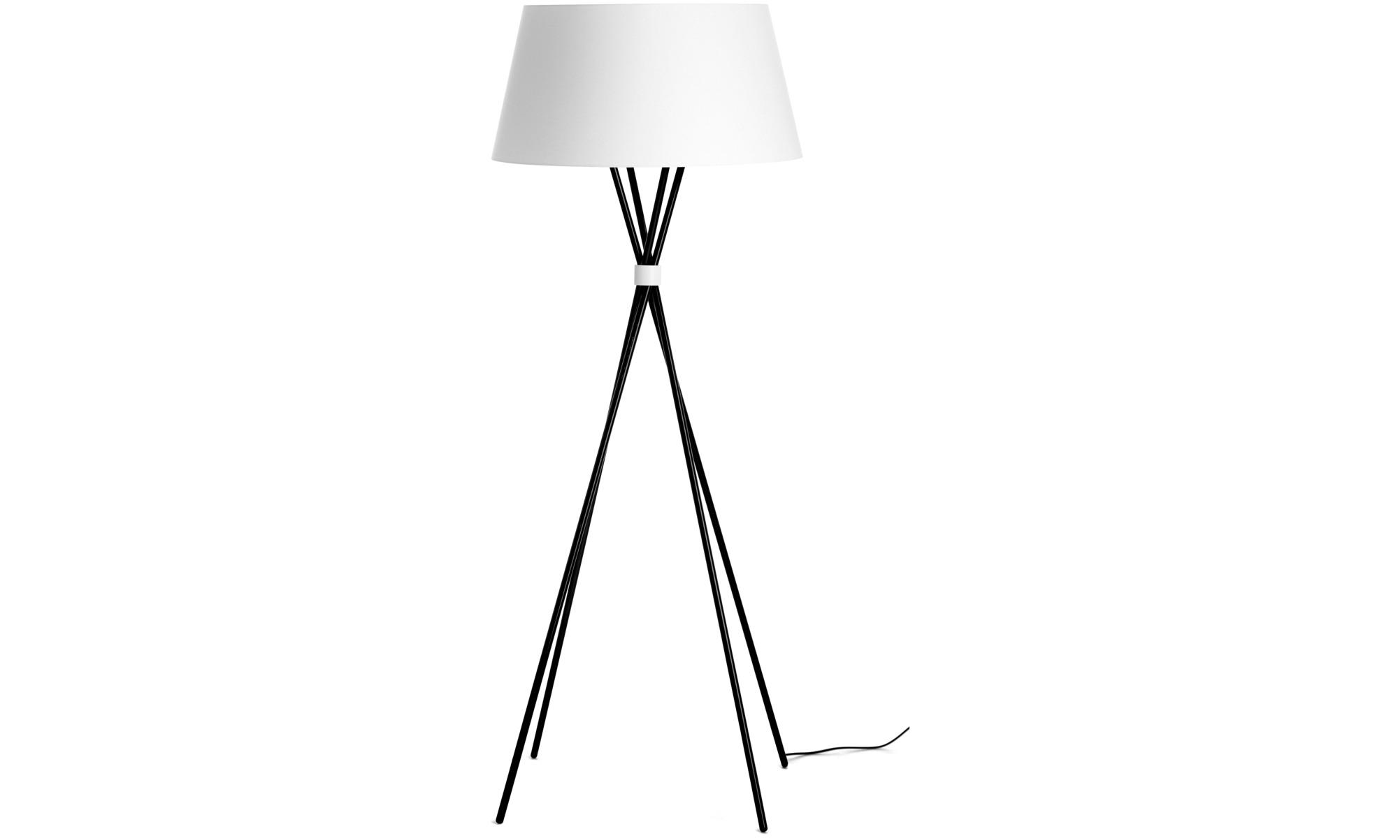 Lampy - Lampa podłogowa Main - Czarny - Metal