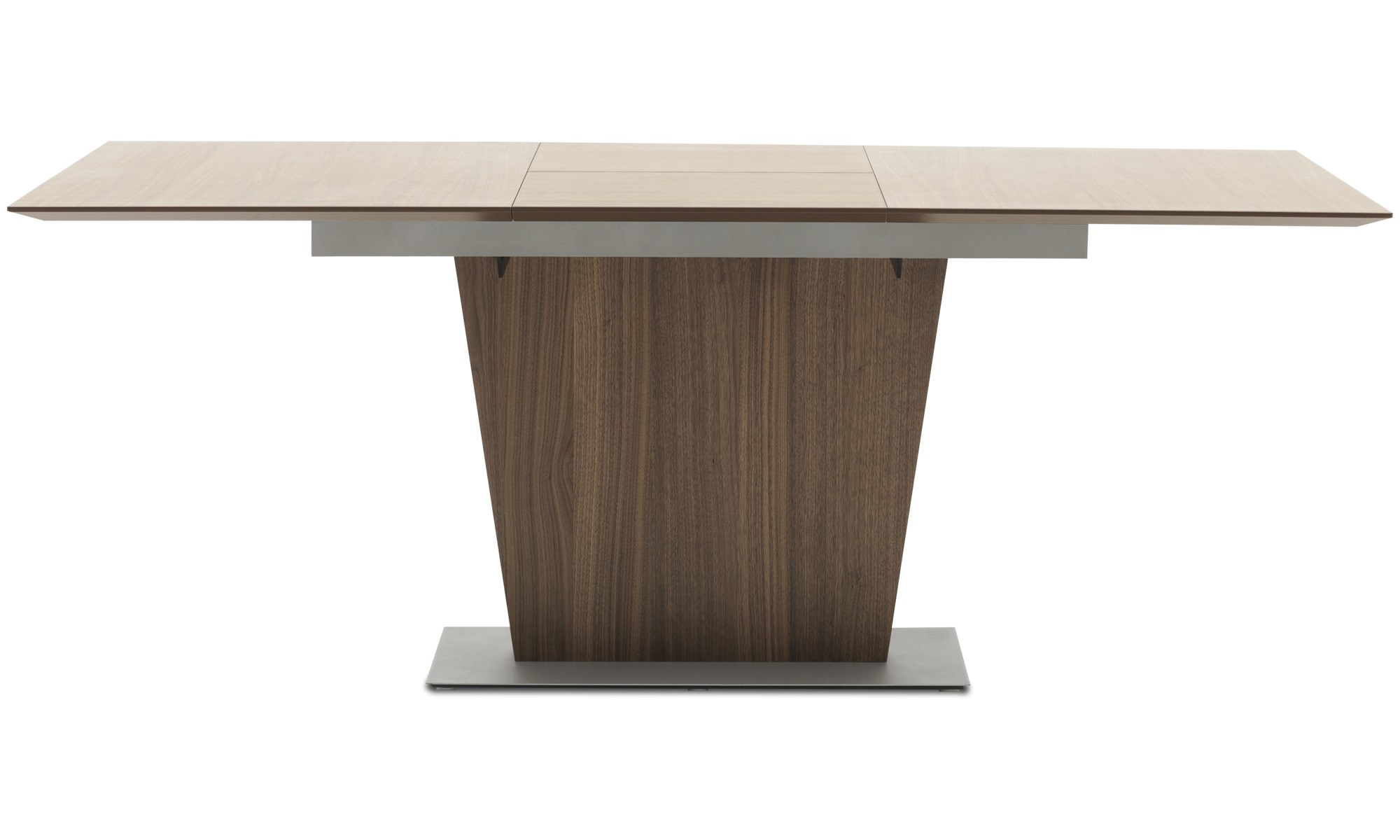 Dining Tables   Milano Table With Supplementary Tabletop   Square   Brown    Walnut