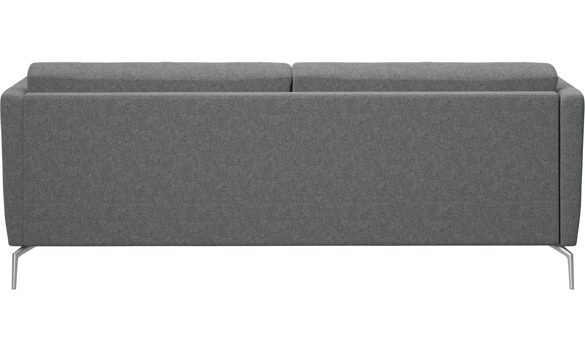Beau 2.5 Seater Sofas   Osaka Sofa, Regular Seat   Grey   Fabric