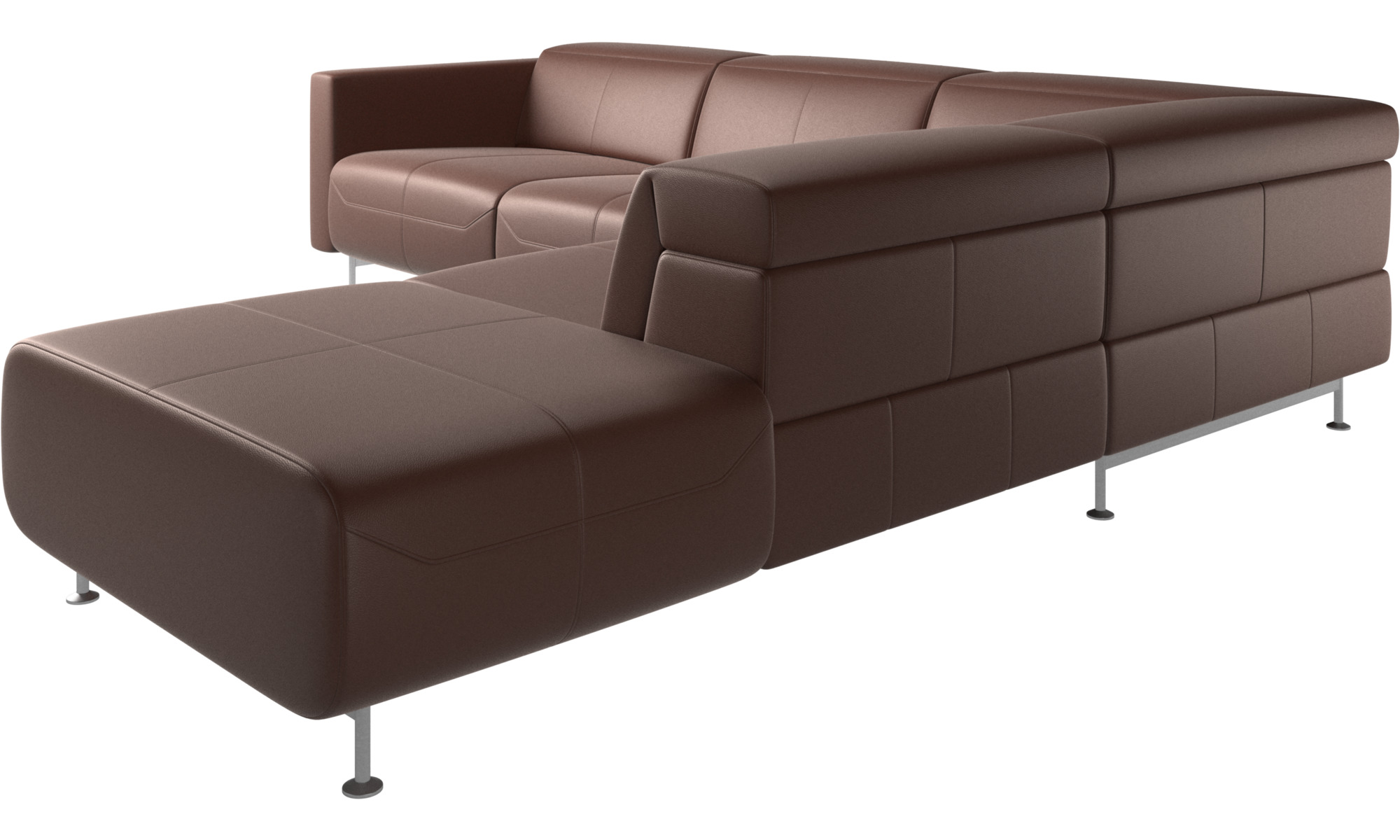 Parma reclining corner sofa with open end