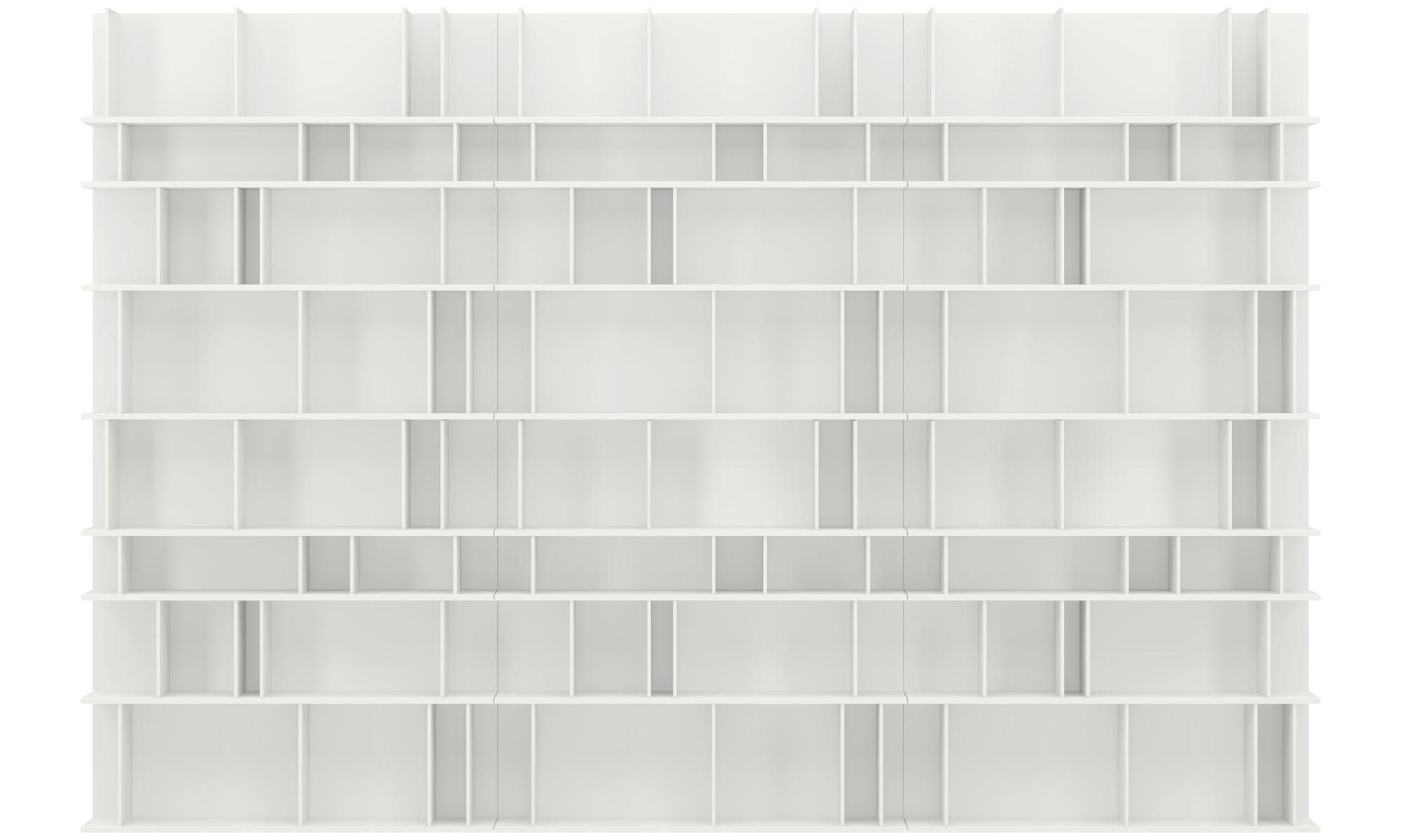 Regały - System regałowy Como - Biały - Lakier