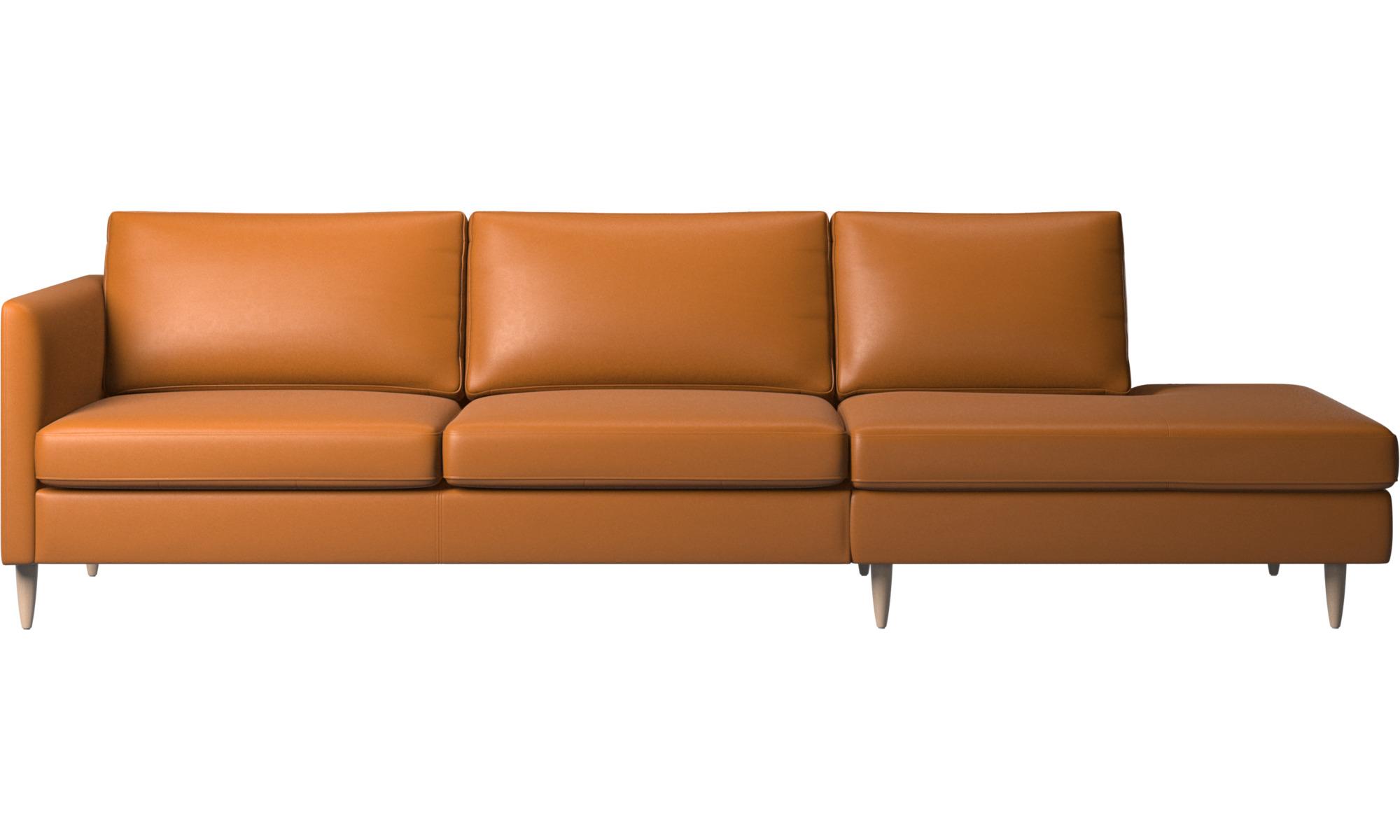 Sofaer med hvilemodul - Indivi sofa med loungemodul - Brun - Læder
