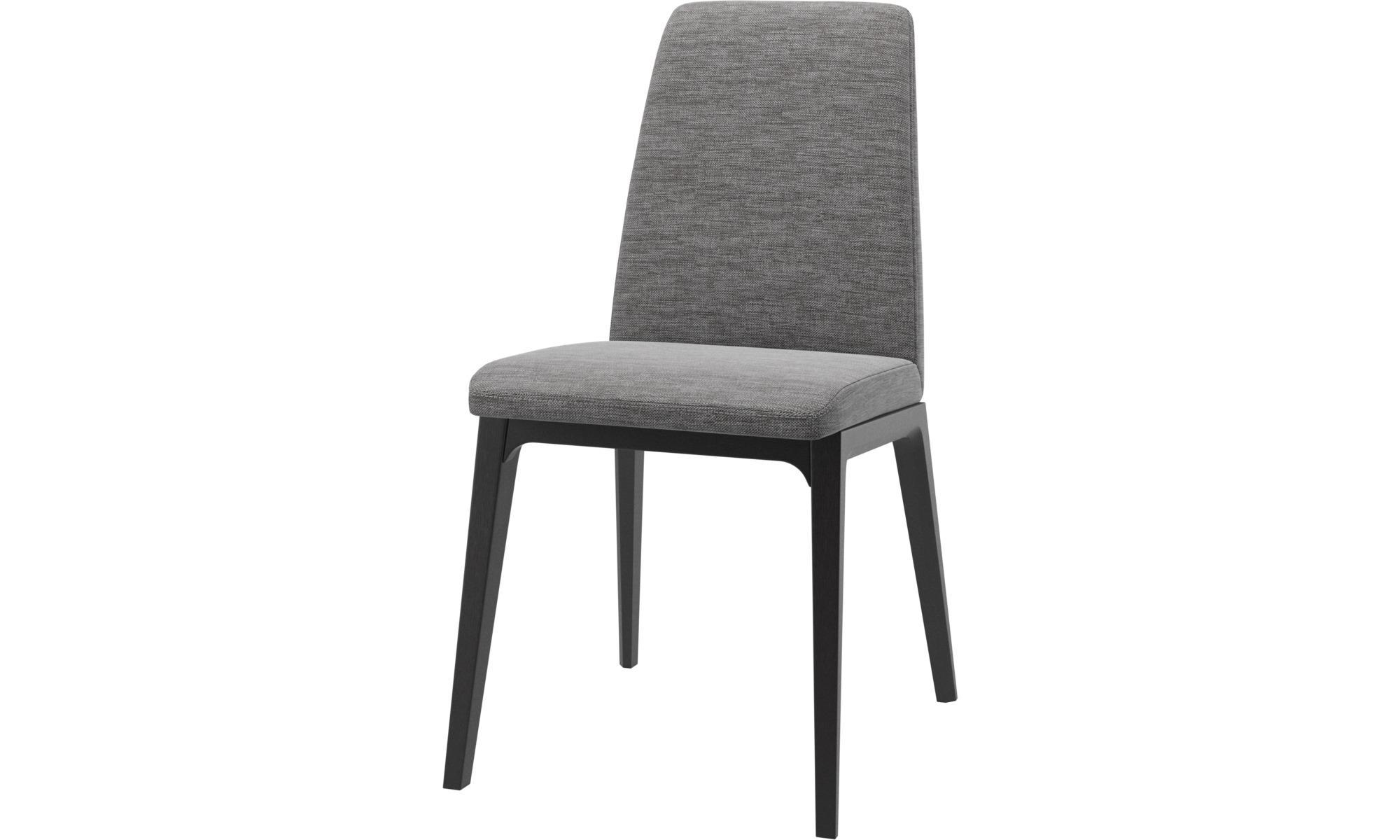 Cadeiras de jantar - Cadeira Lausanne - Cinza - Tecido