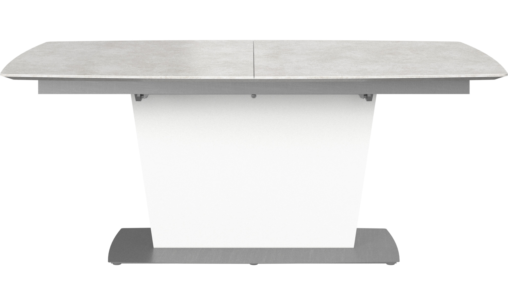 Dining Tables Milano Table With Supplementary Tabletop Rectangular Gray Ceramic