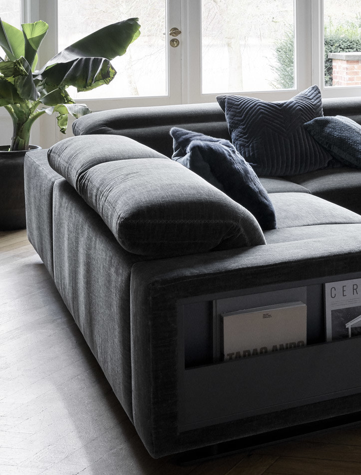 Corner sofas - Hampton corner sofa with adjustable back and storage on left side