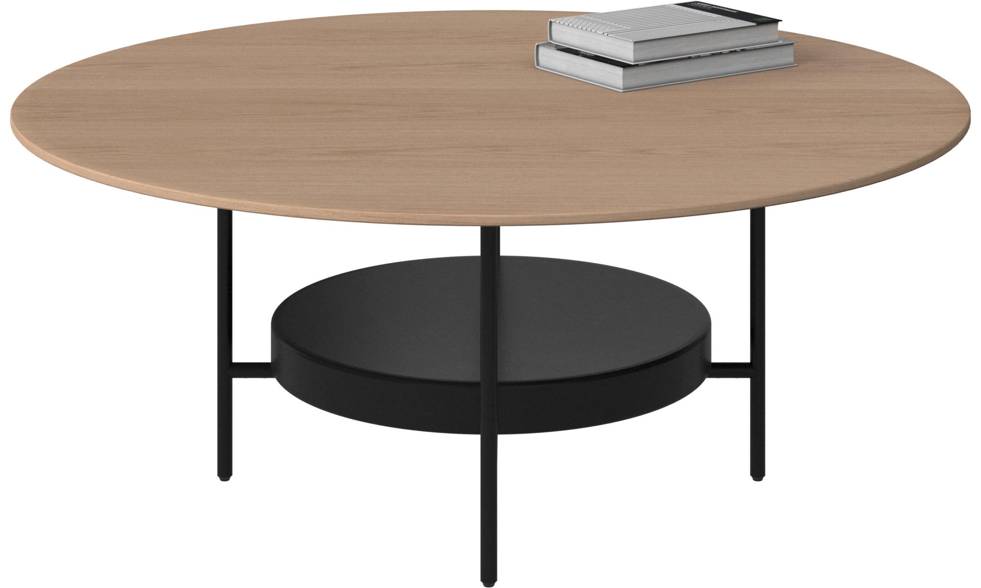 Tables basses - Table basse Madrid - rotonde - Marron - Chêne