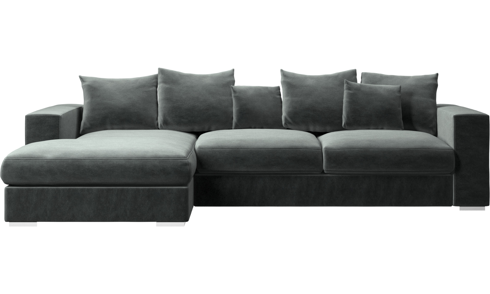 chaise lounge sofas cenova sofa with resting unit boconcept. Black Bedroom Furniture Sets. Home Design Ideas